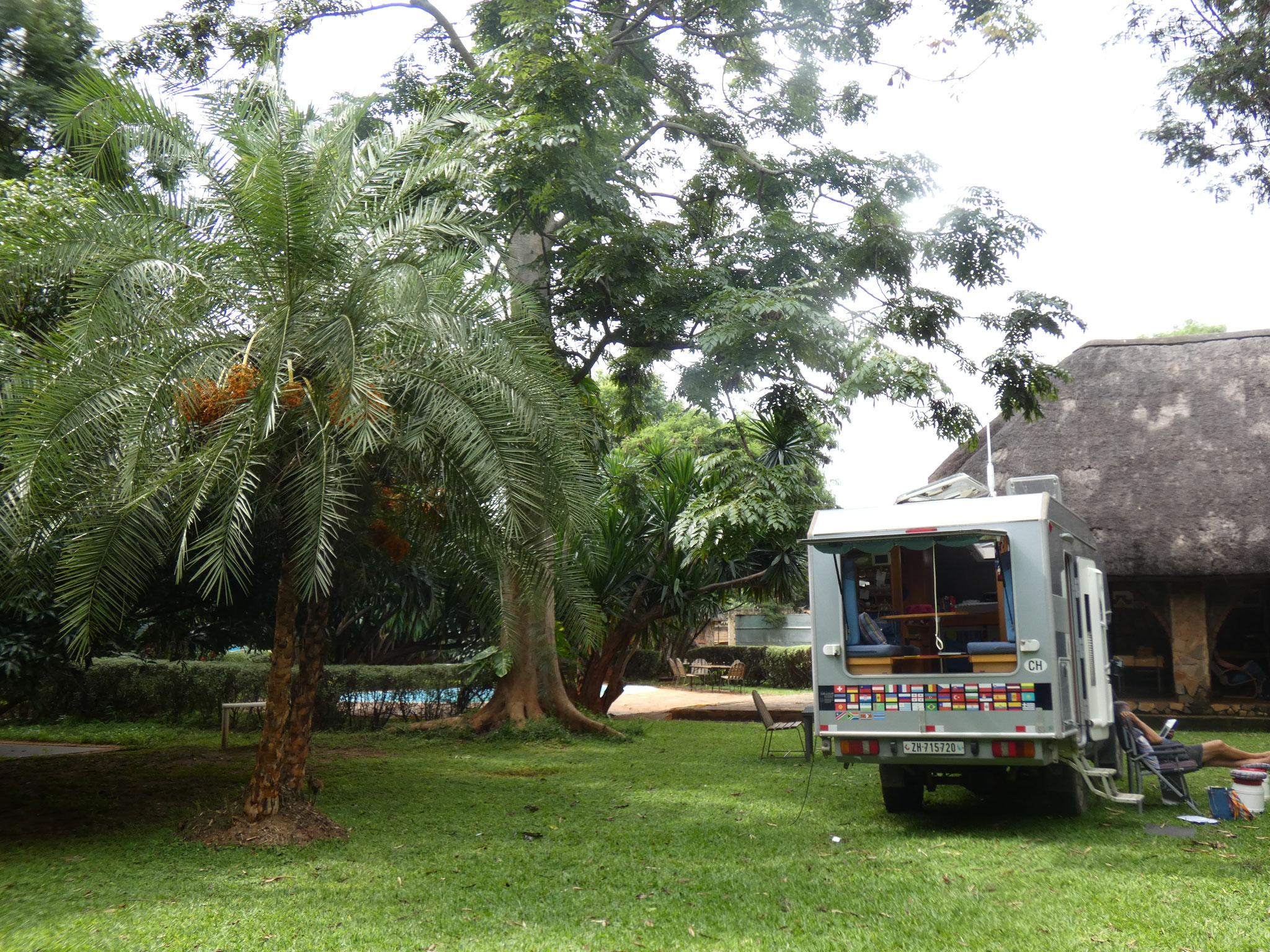 Camping vor Lusaka....