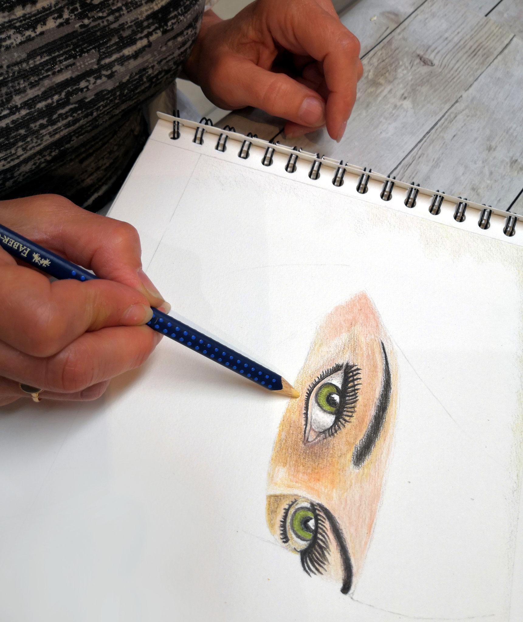 Crayons de couleur par Véronique
