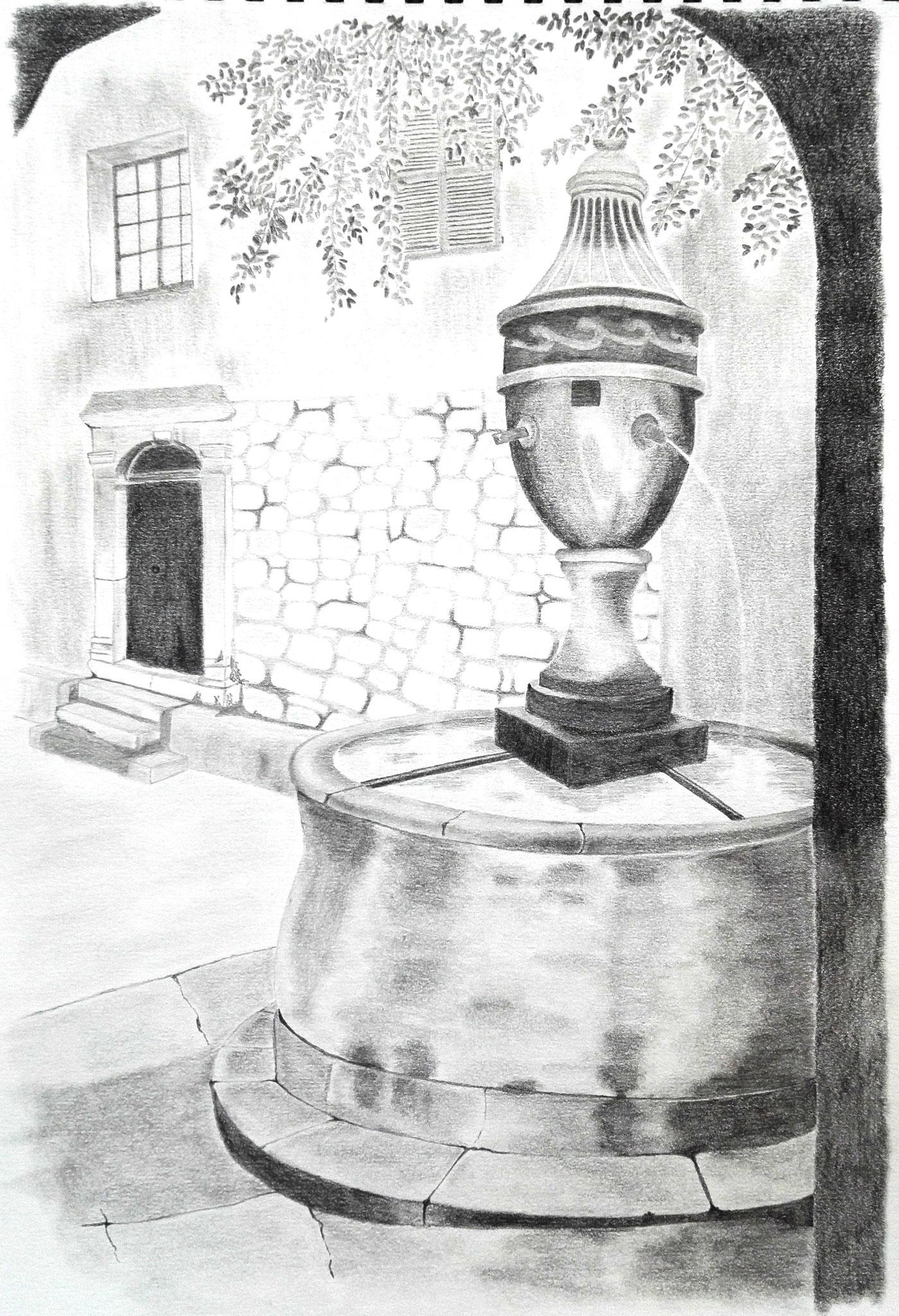 dessin au crayon graphite par Céline