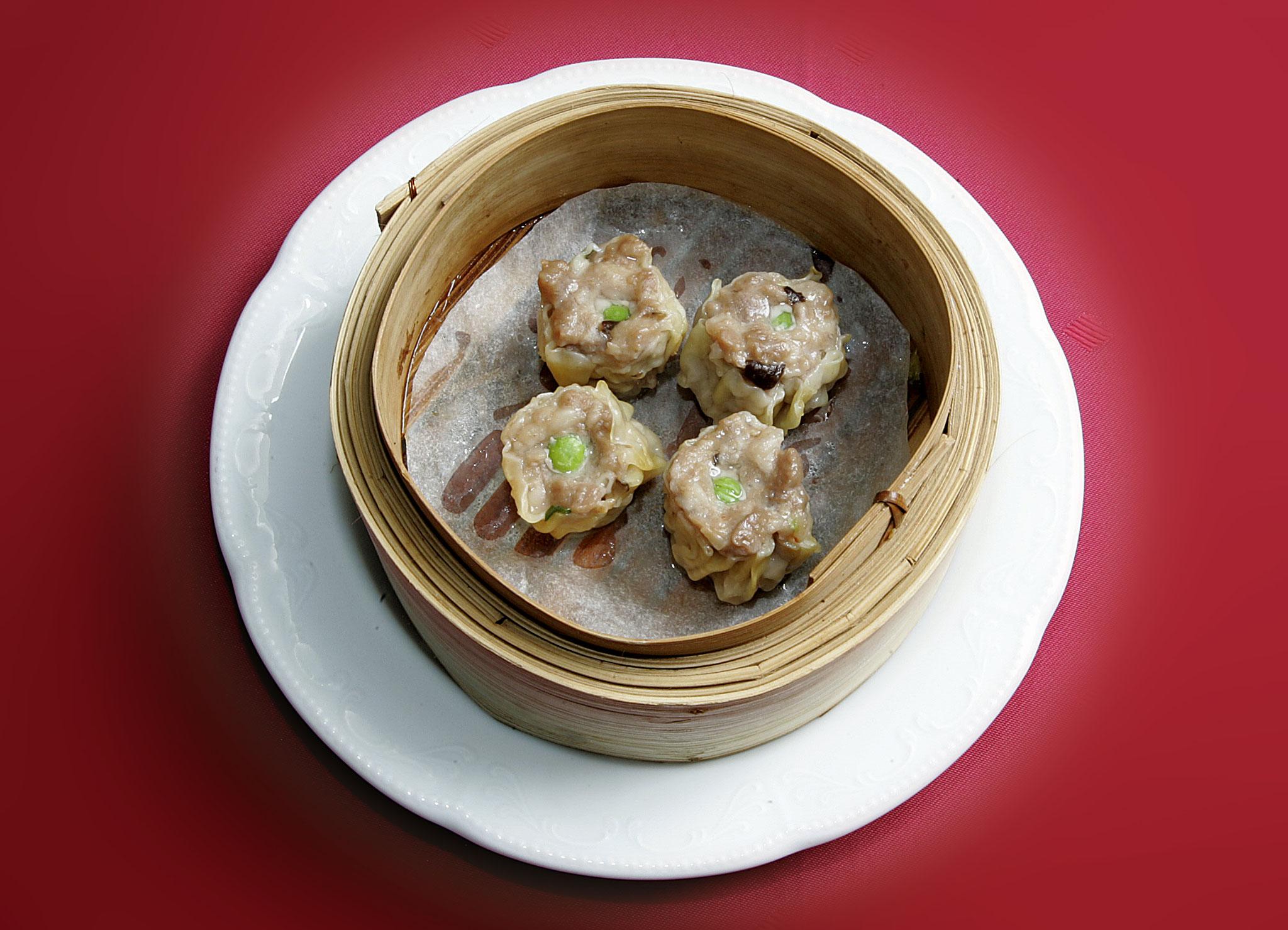 Shao-Mai (Gedämpfte Schweinefleisch und Crevetten Ravioli)