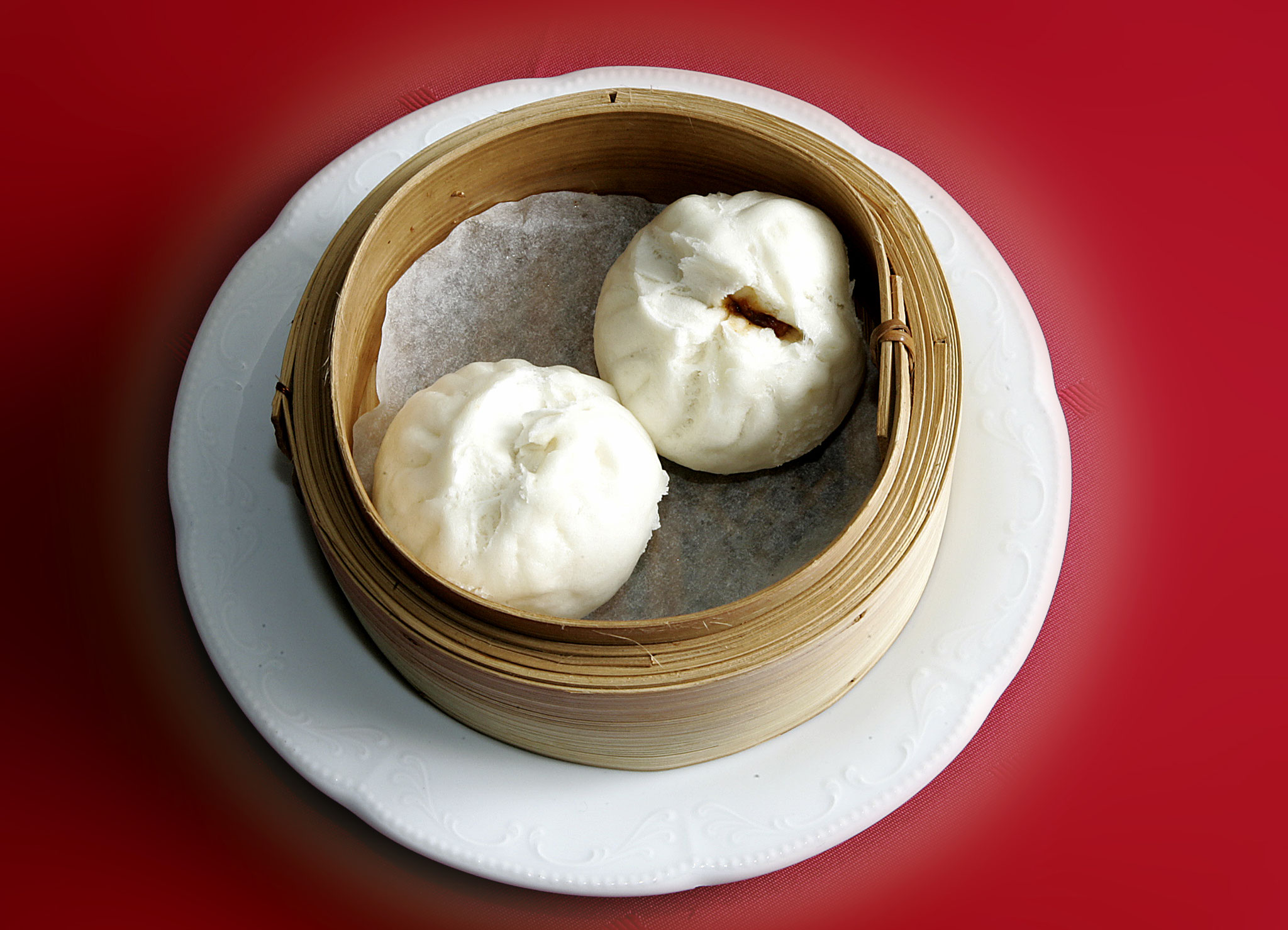 Steamed Bun filled with grilled Hoi-Sin Sauce marinated Pork