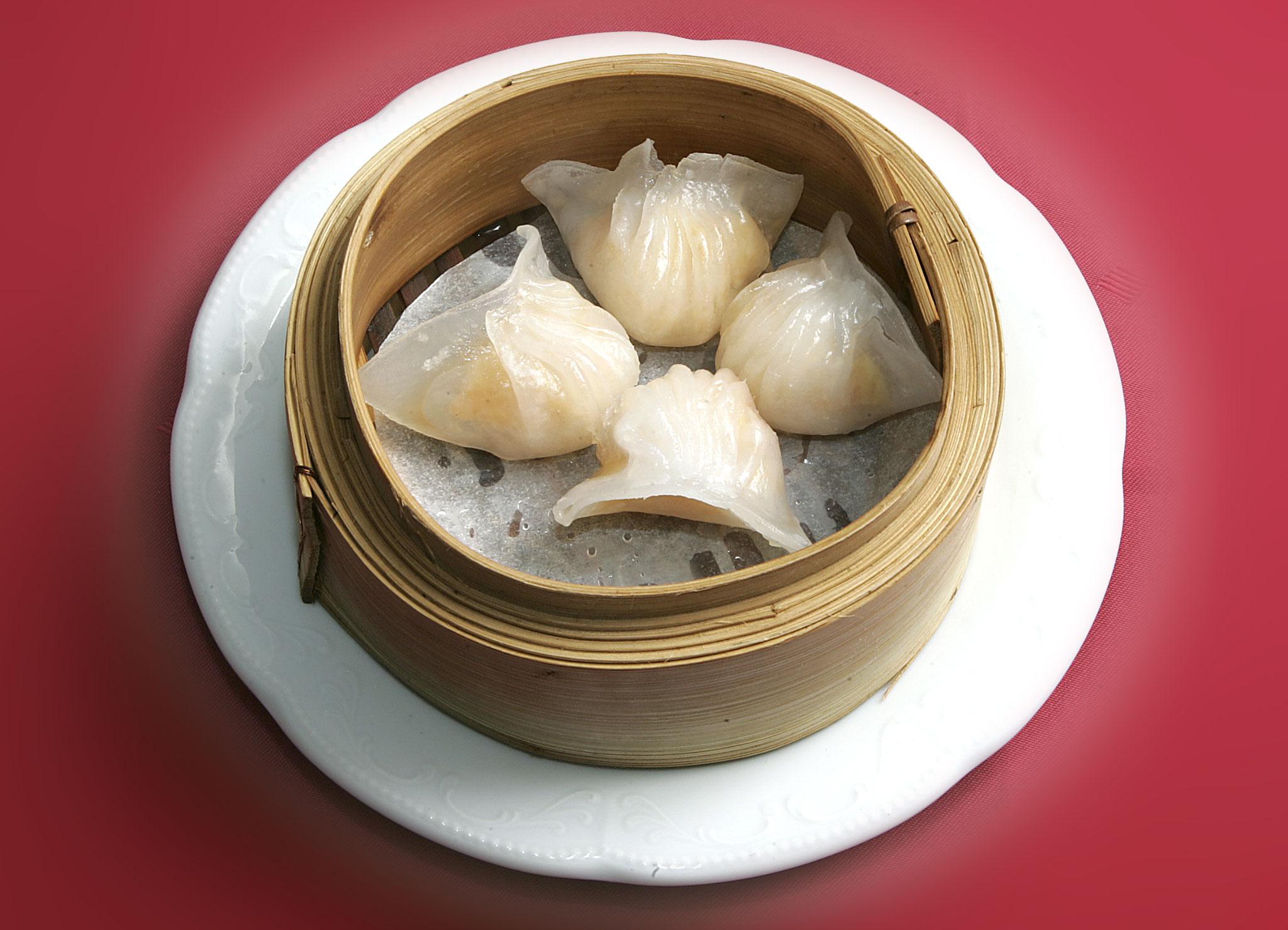 Ha-Gau (Durchsichtige Teigtaschen mit Crevetten)