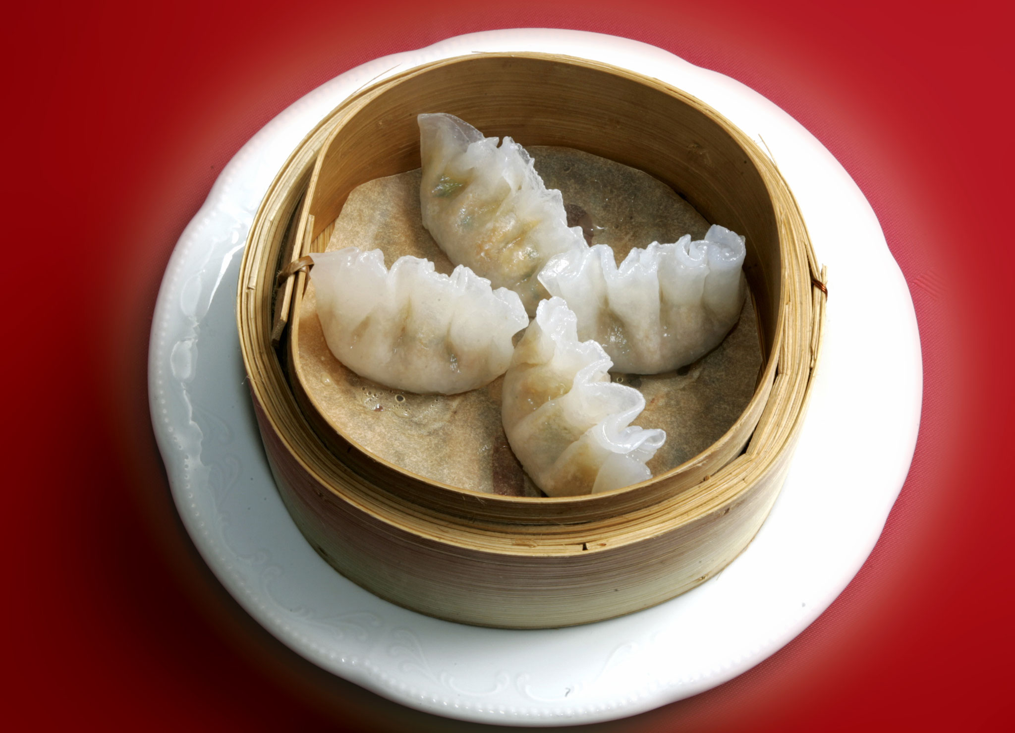 Steamed Dumpling filled with Celery and Mushroom
