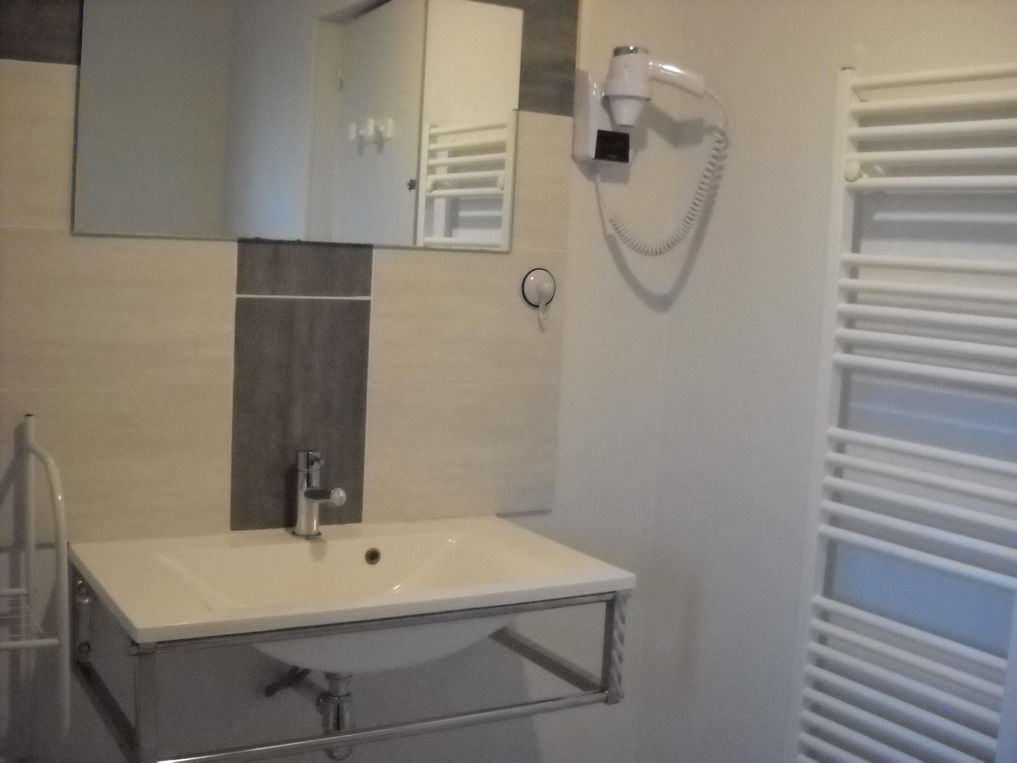 salle de bain gîte Bergerie