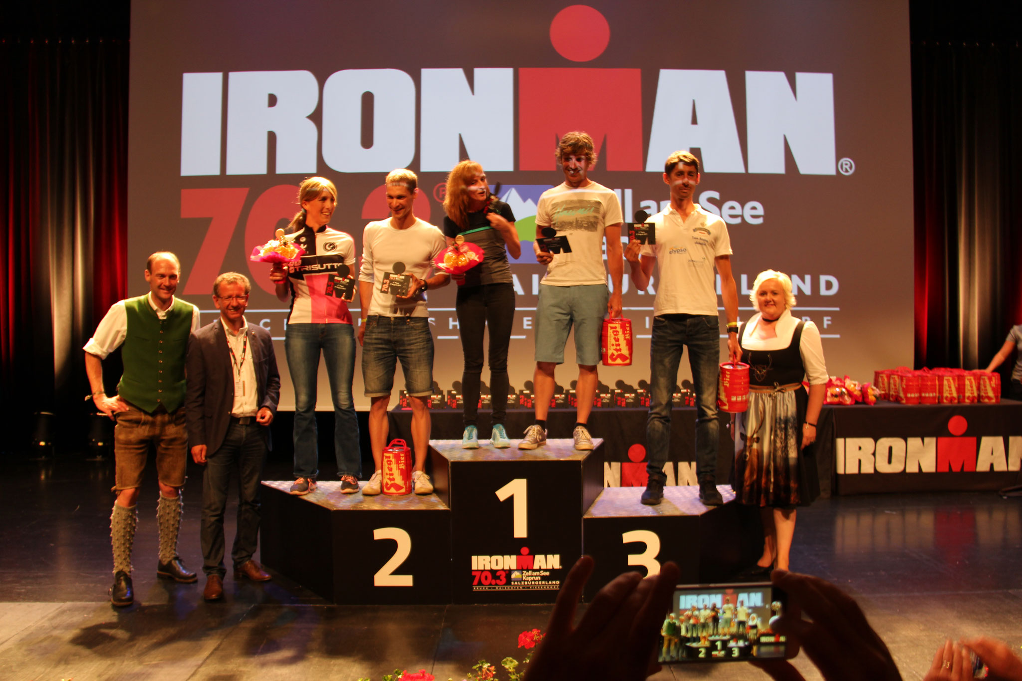 Ironman 70.3 Zell am See 2017 Altersklassenpodium