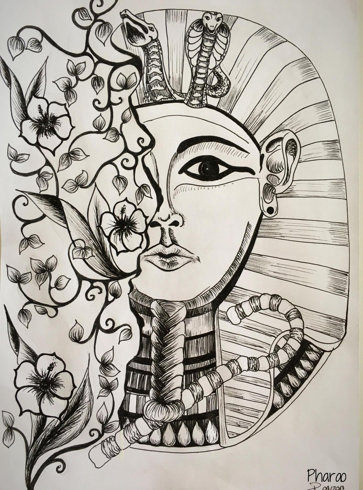 Pharao (DIN A3 / Black-Pen)