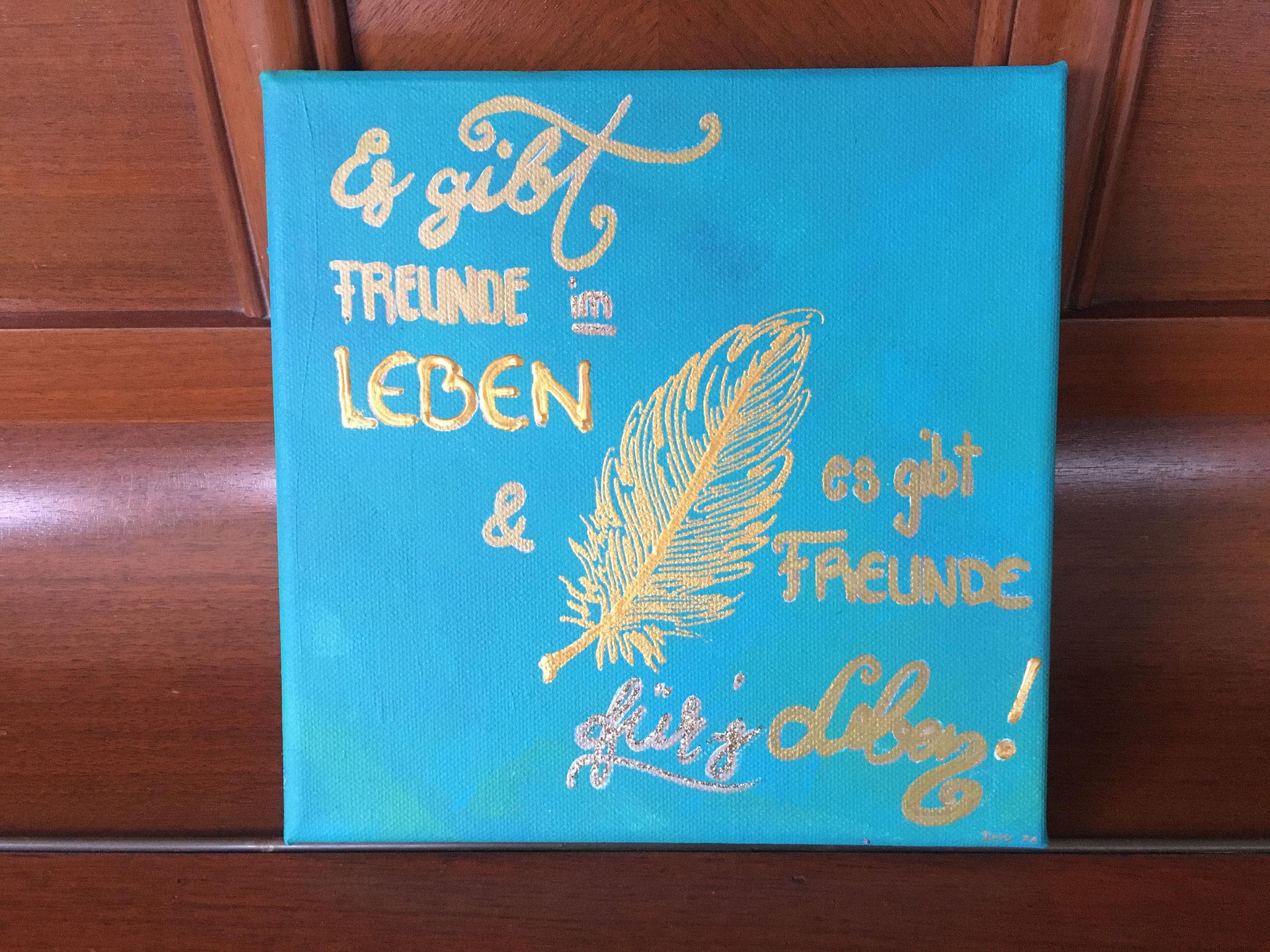 Federn Freunde (20x20 / Acryl)