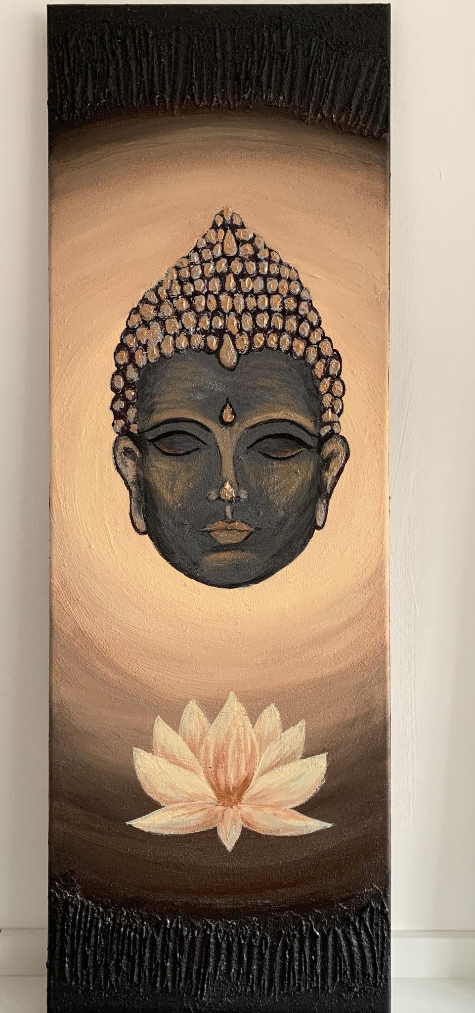 Budda - black-gold (30x90 /Acryl)