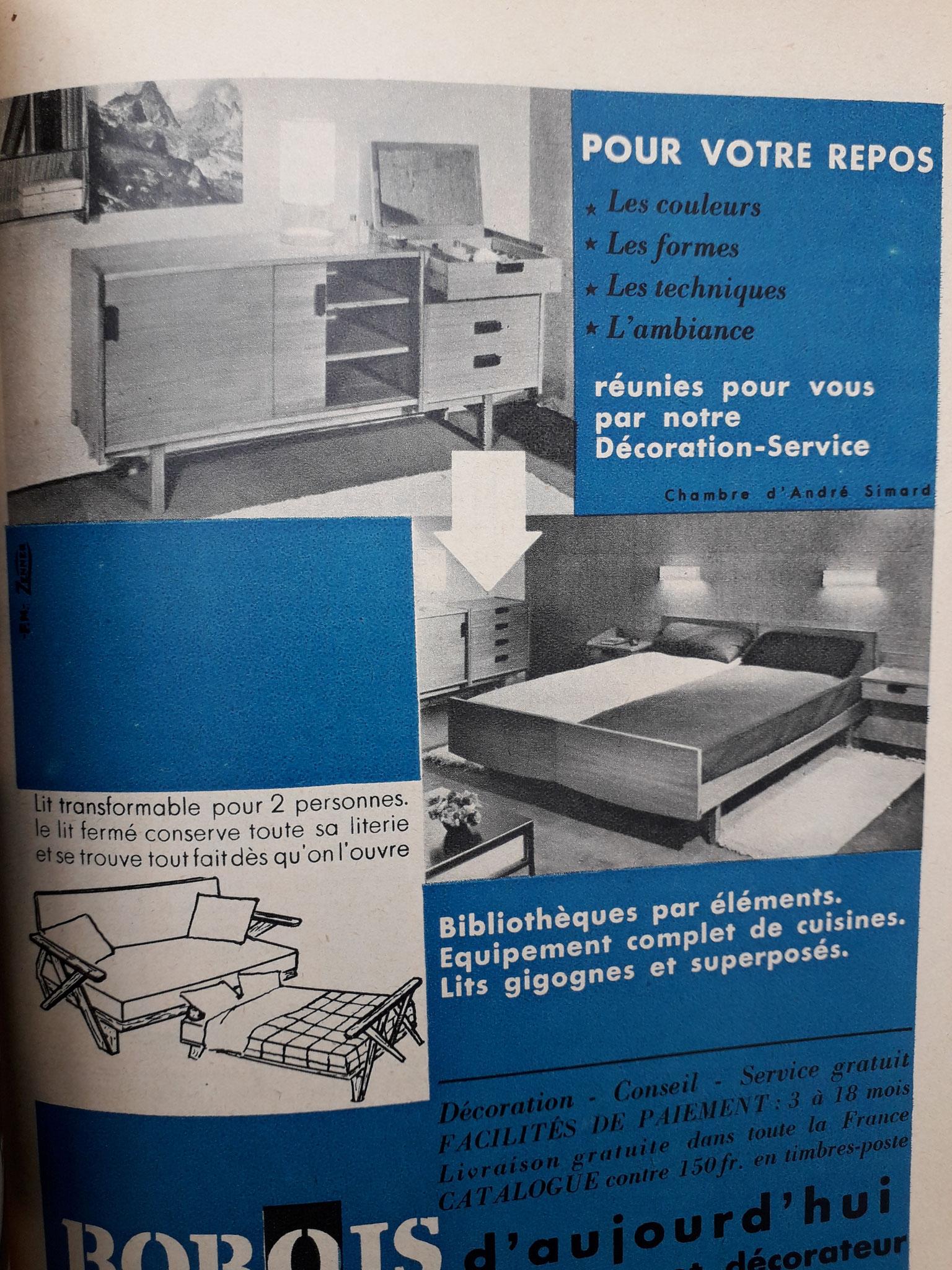 Publicité Bobois, c. 1955
