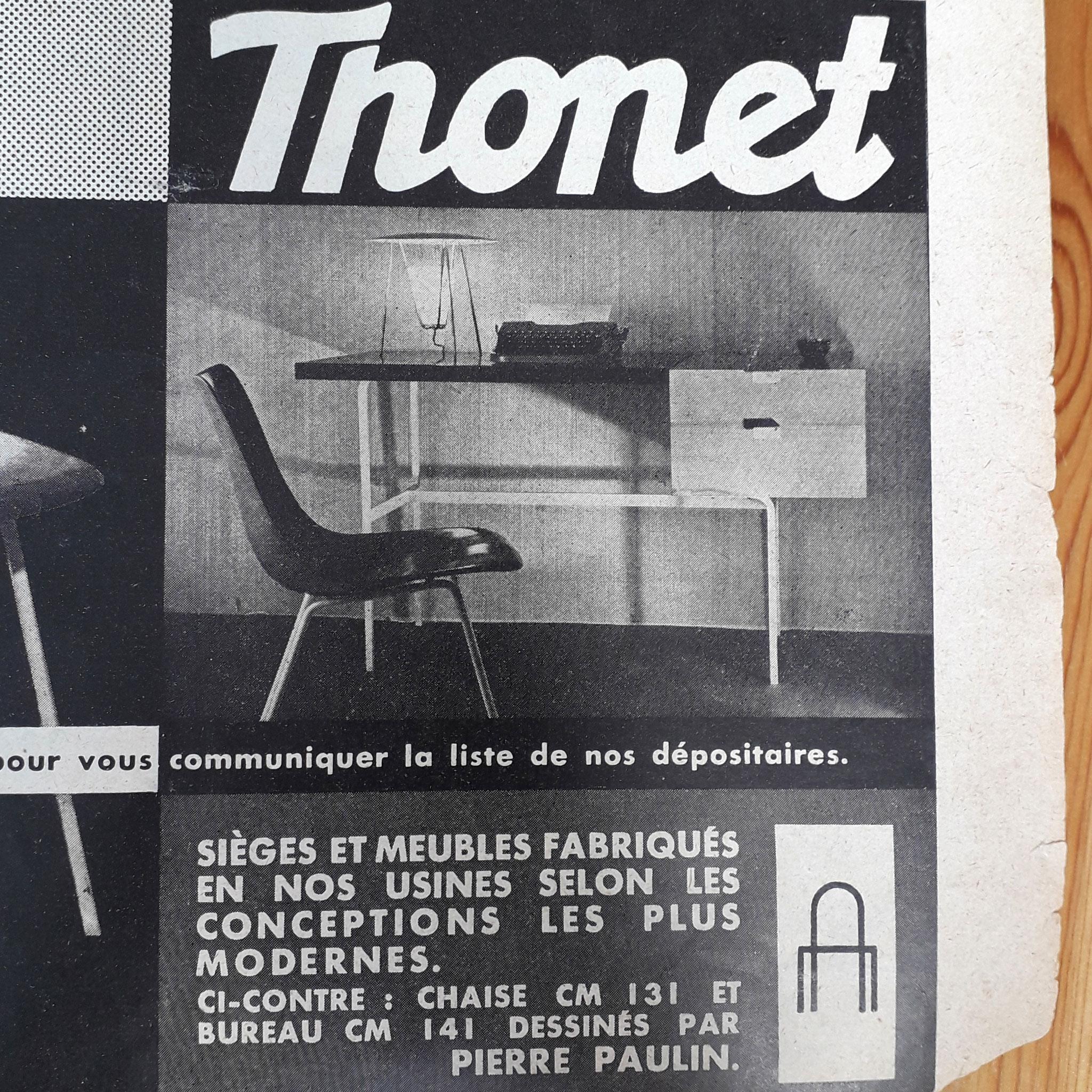 Publicité Thonet 1954
