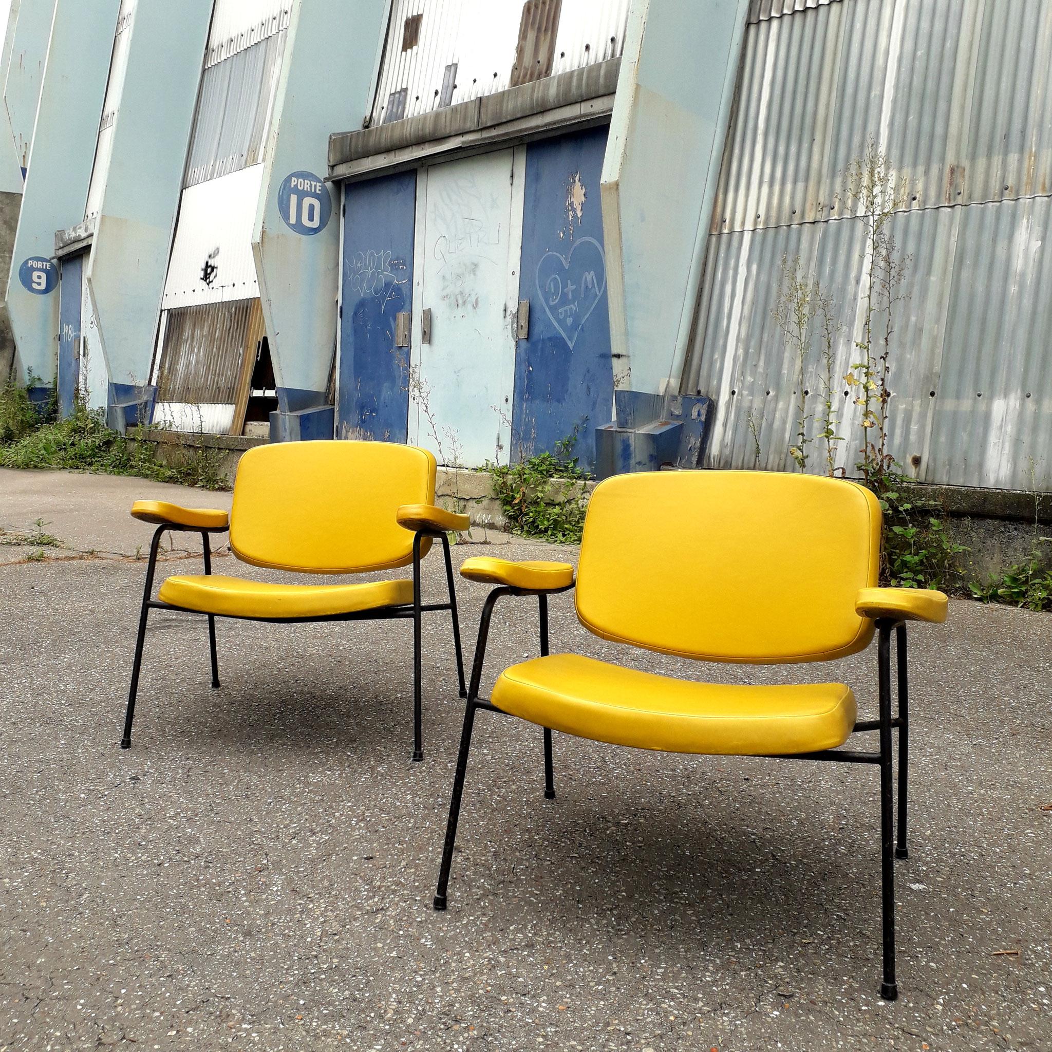 Paire de fauteuils CM190F, édition Thonet, 1959