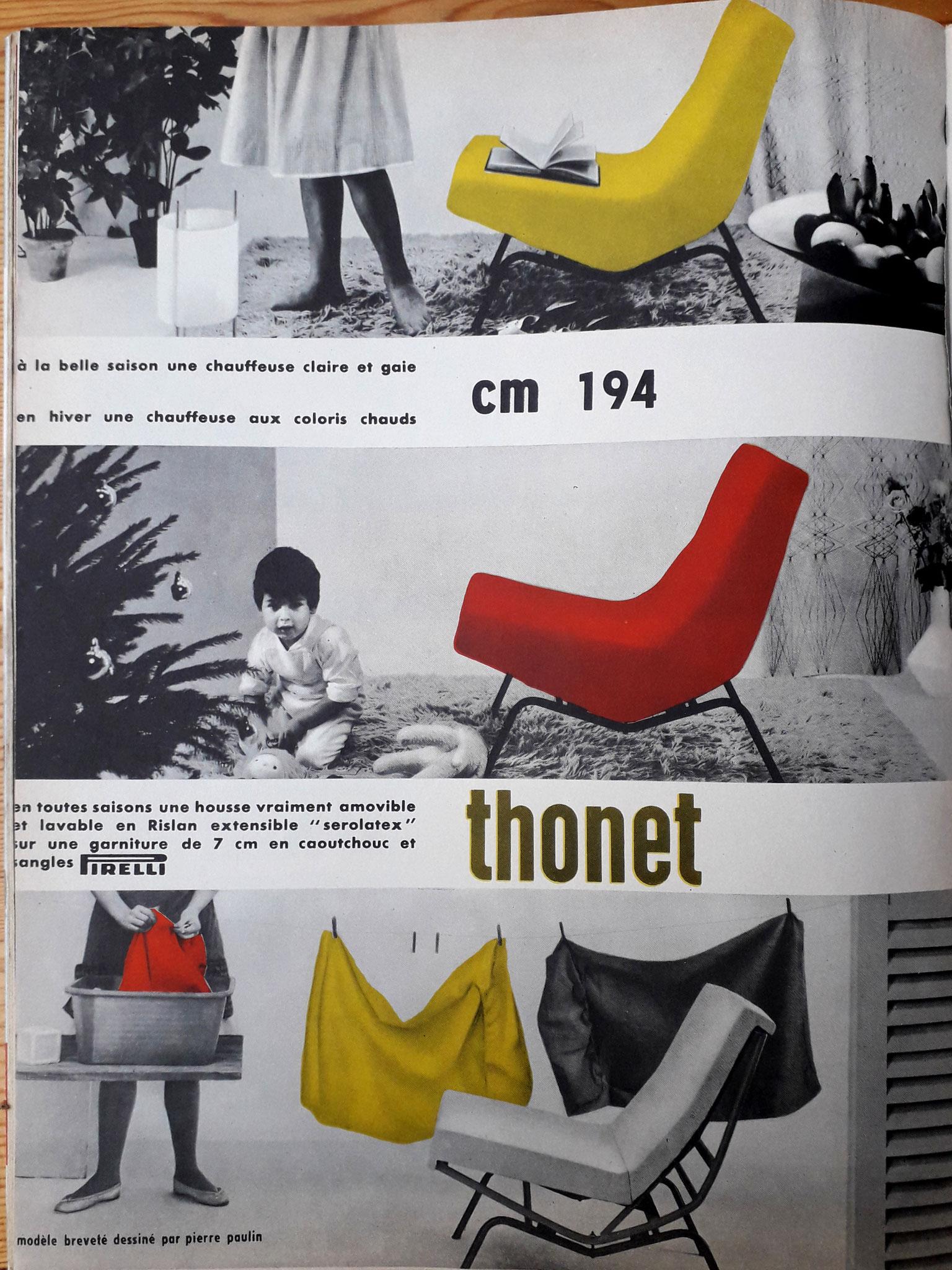 Publicité Thonet 1959