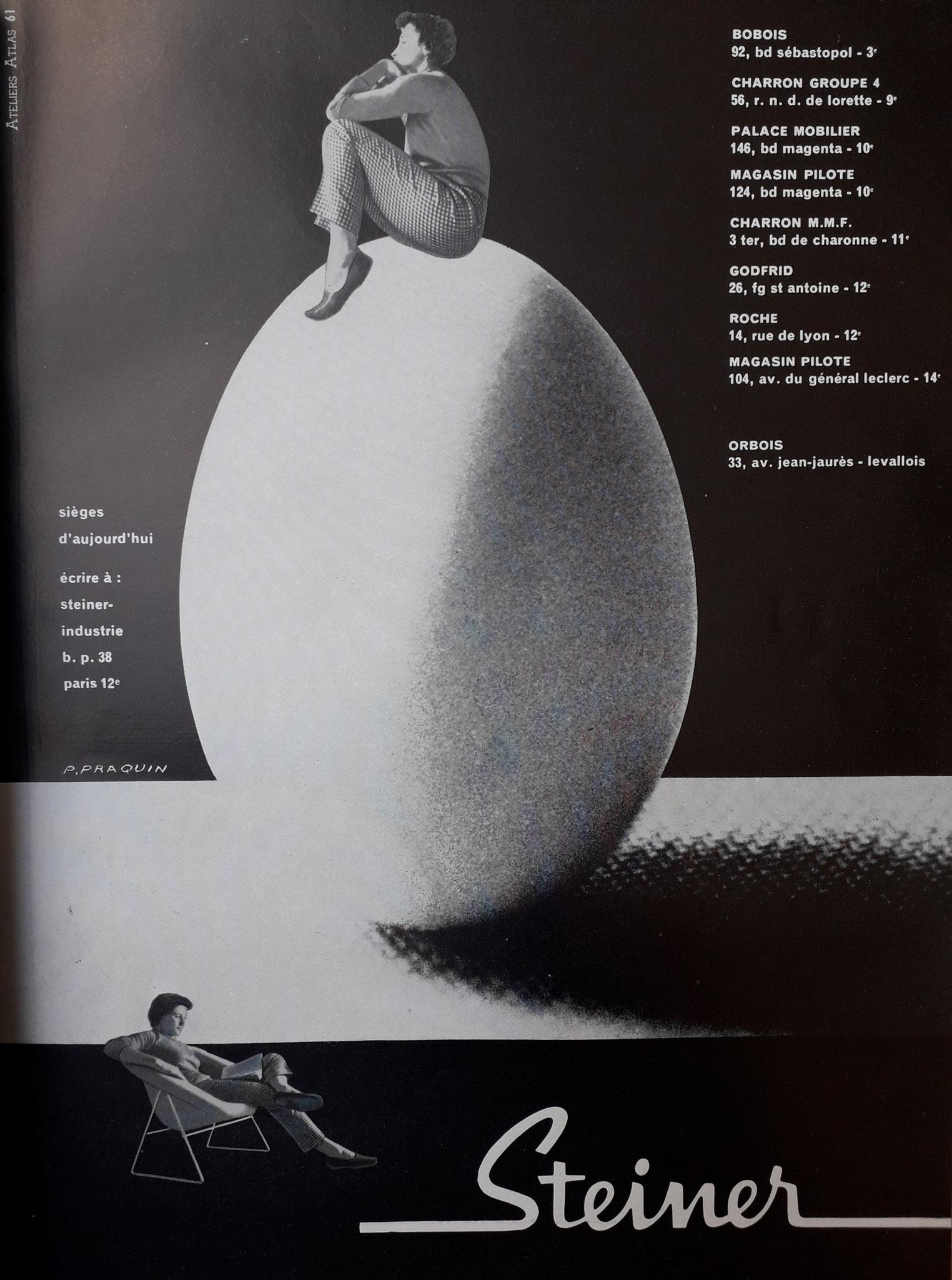 Publicité Steiner, c. 1956