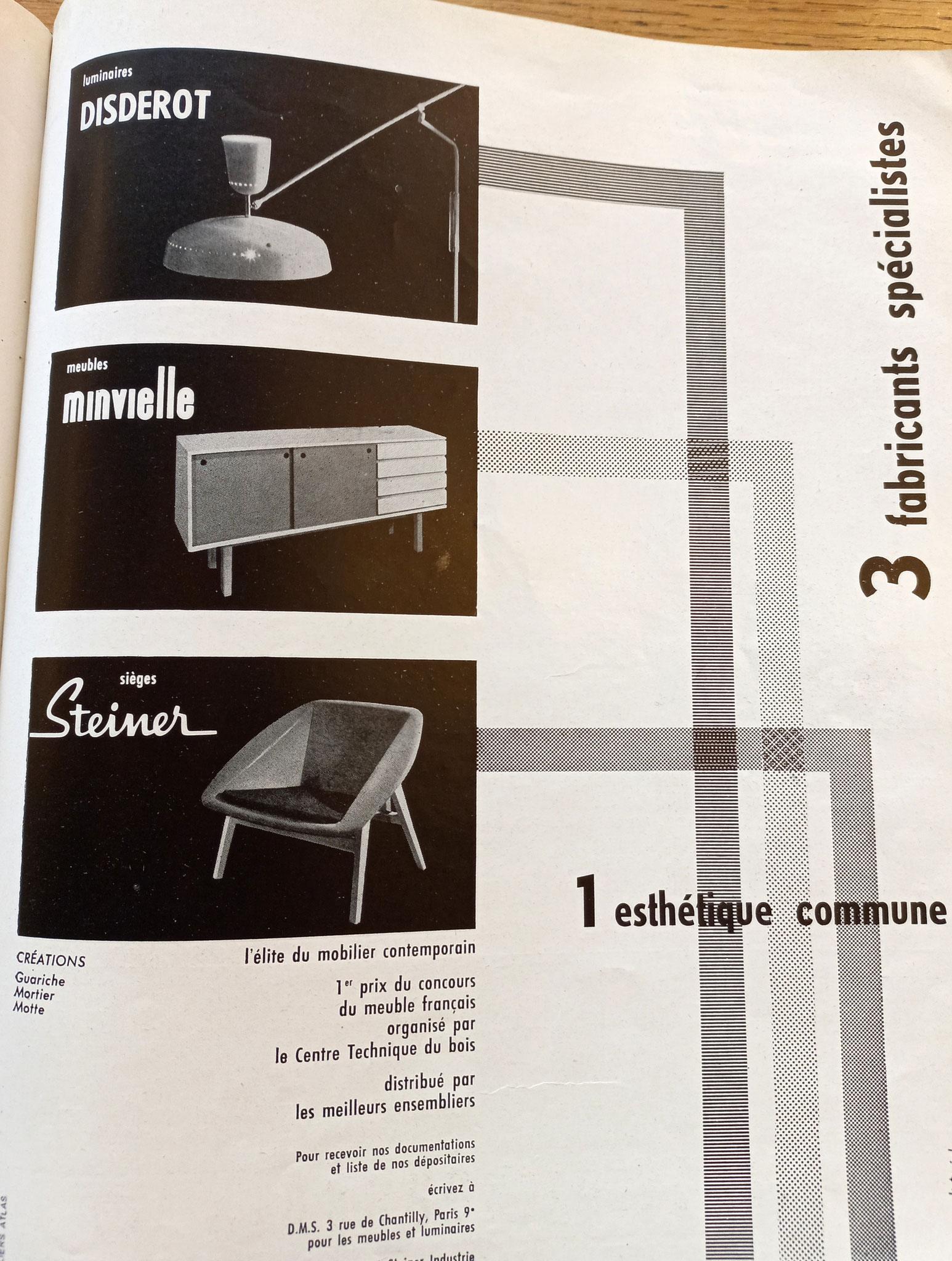 Publicité Disderot/ Minvielle/ Steiner, c. 1955