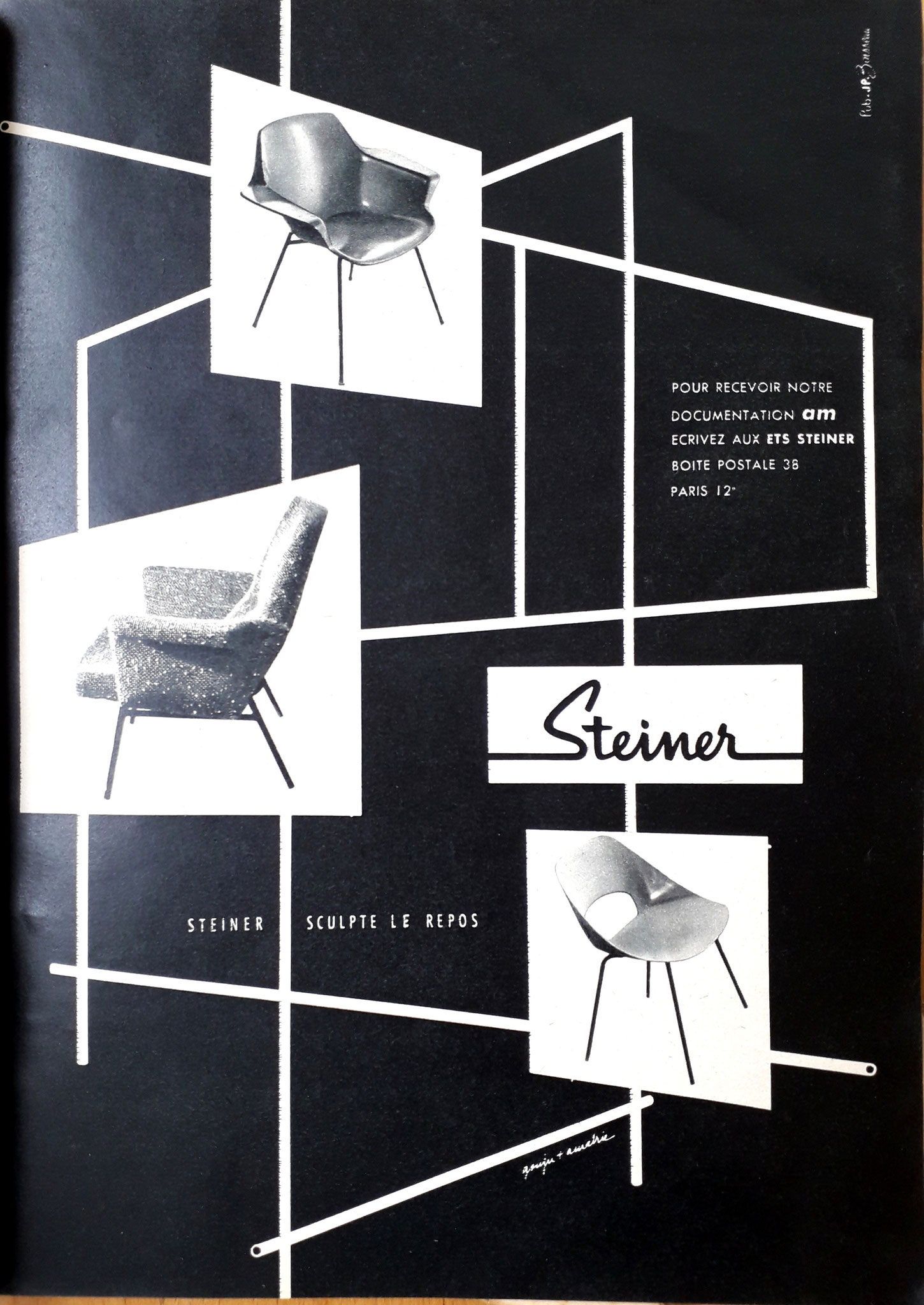 Publicité Steiner, c. 1954