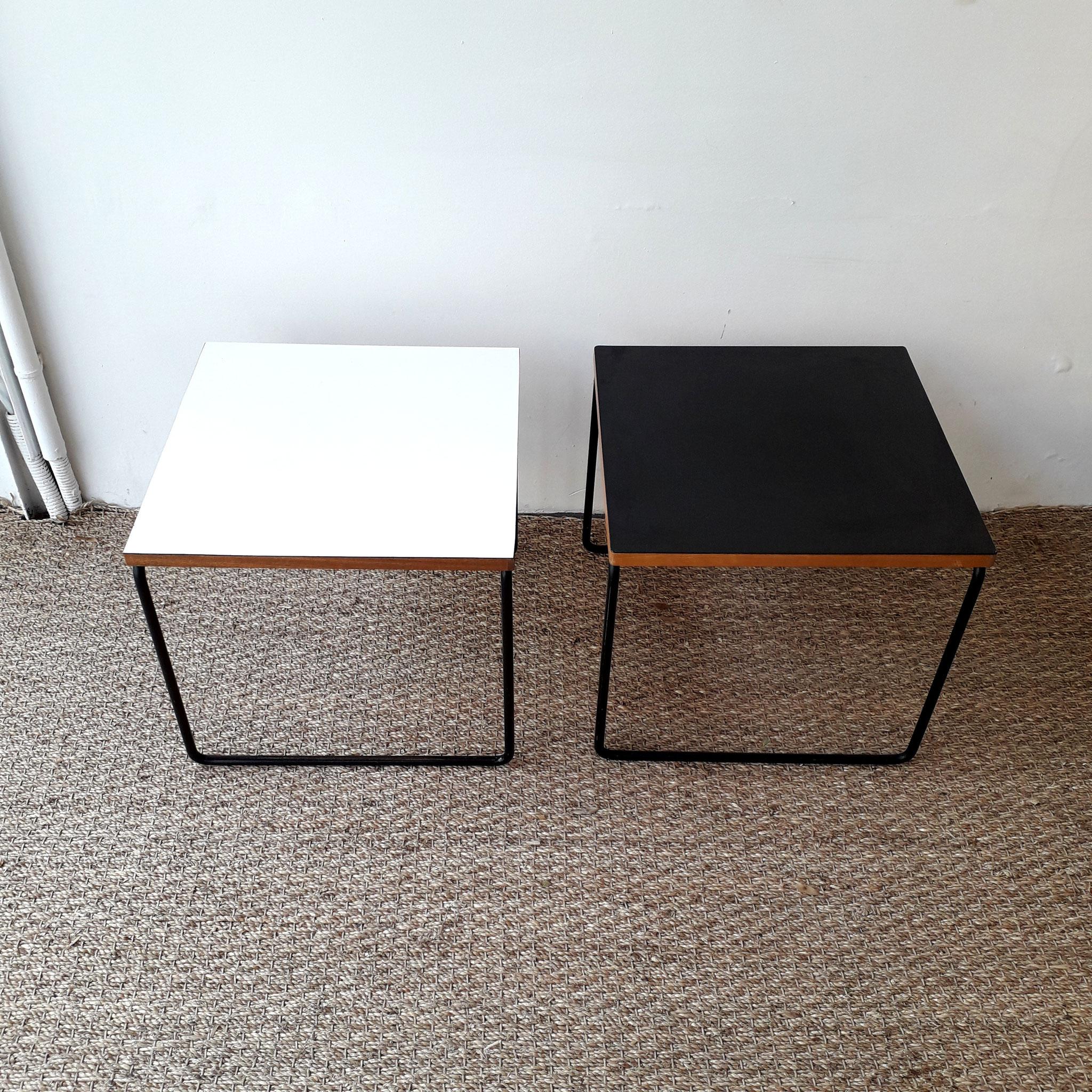 Paire de tables volantes, édition Steiner, c. 1960