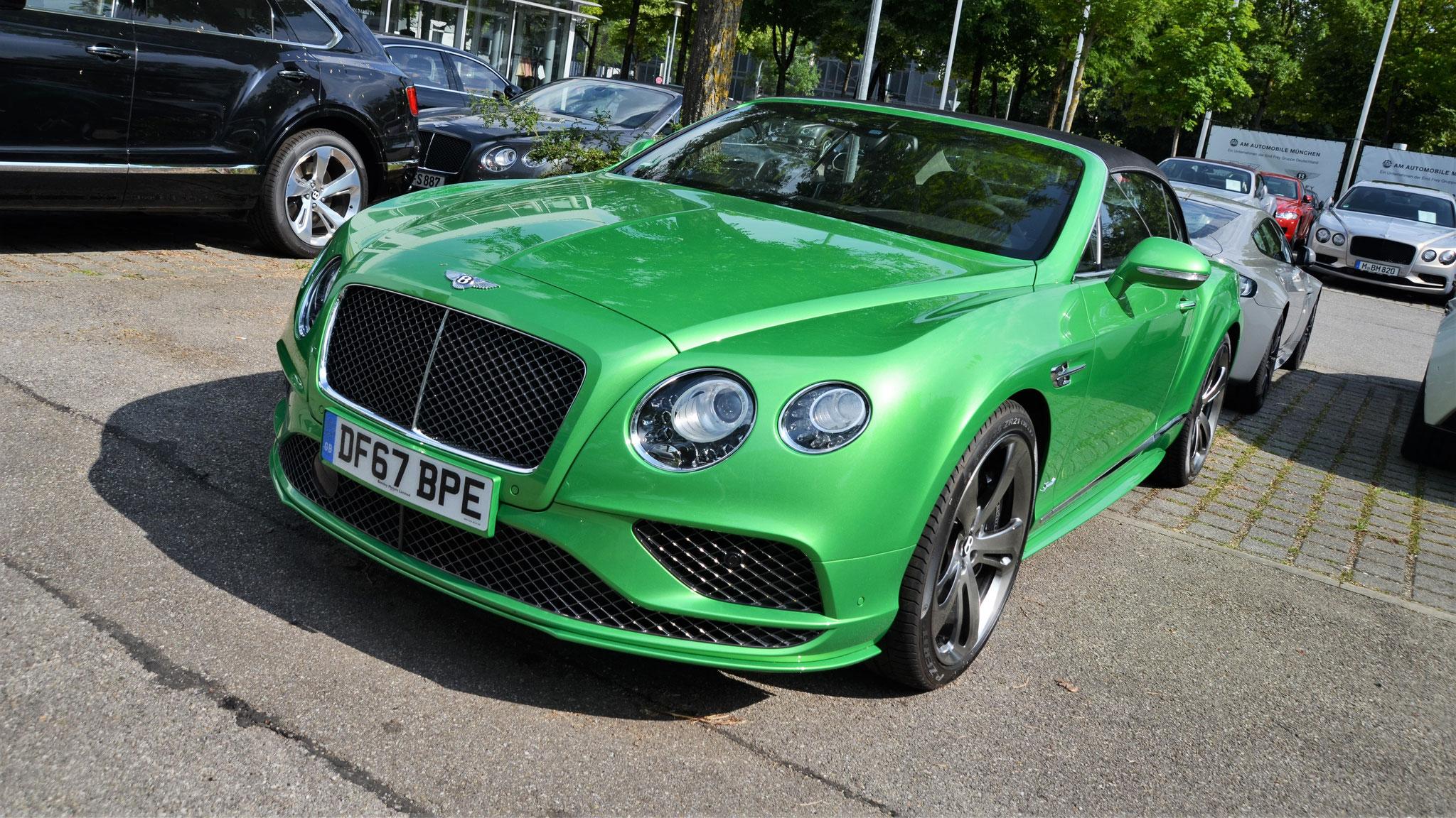 Bentley Continental GTC Speed - DF67-BPE (GB)