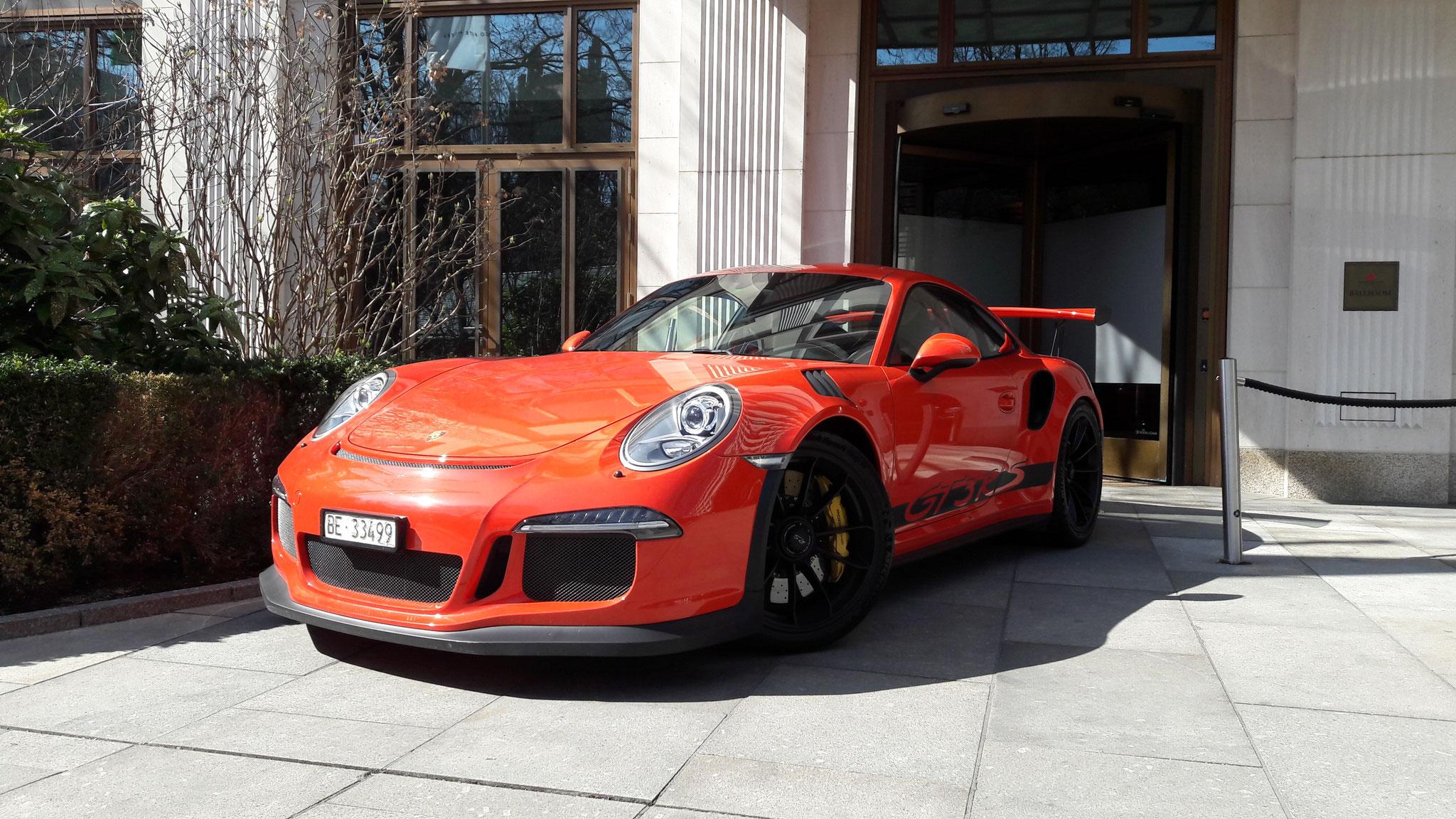 Porsche 911 GT3 RS - BE-33499 (CH)