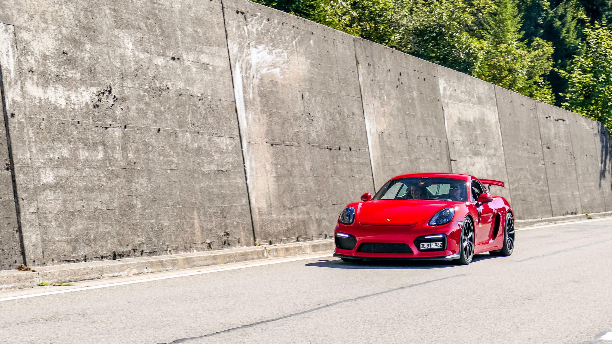 Porsche Cayman GT4 - BE-911982 (CH)