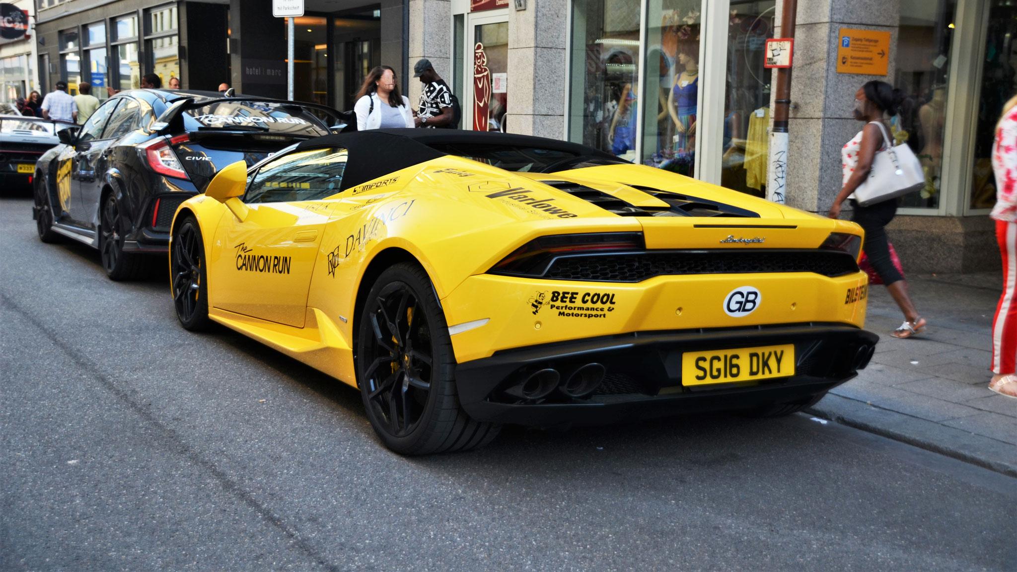 Lamborghini Huracan Spyder - SG16-DKY (GB)