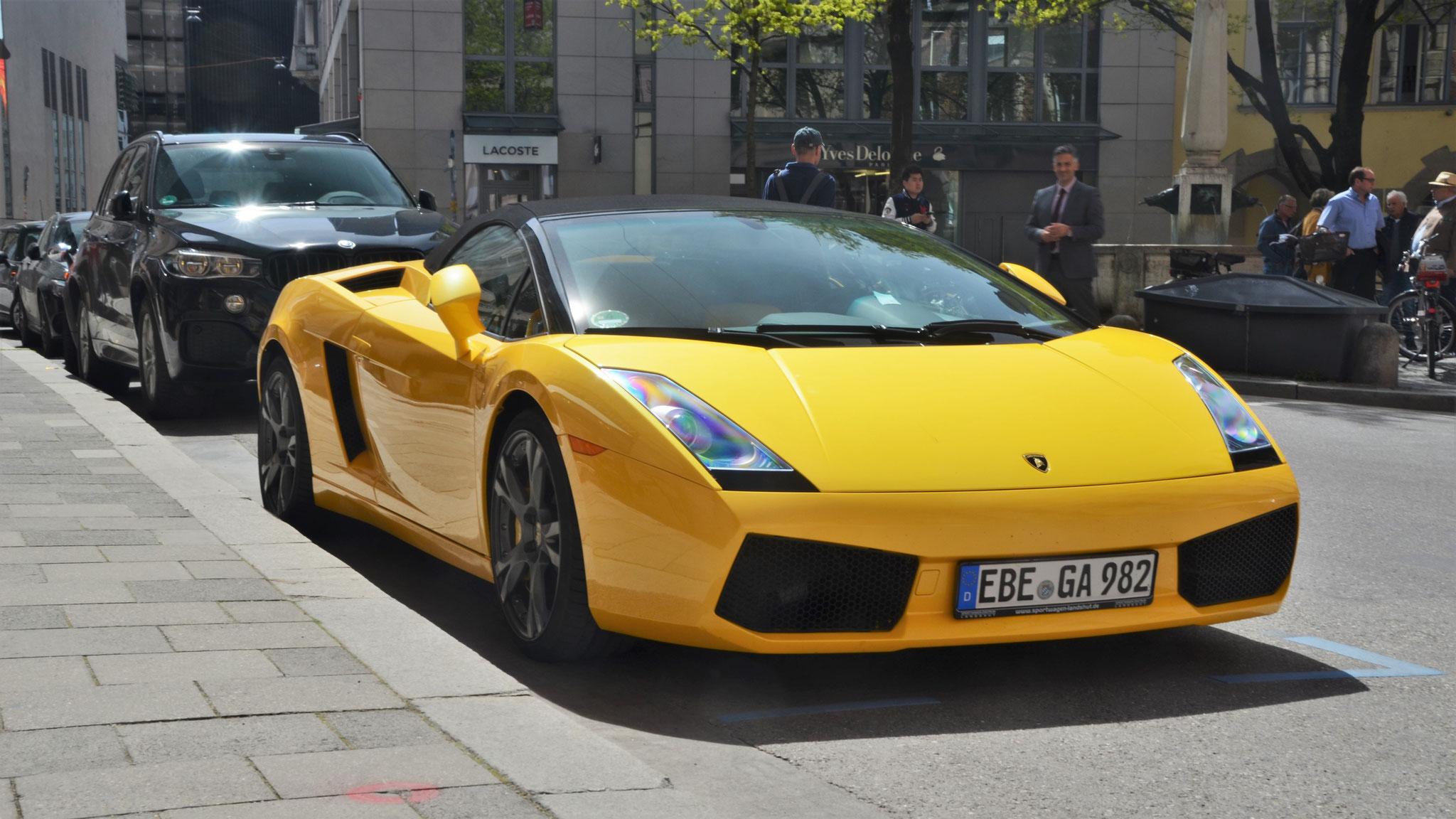 Lamborghini Gallardo Spyder - EBE-GA-982