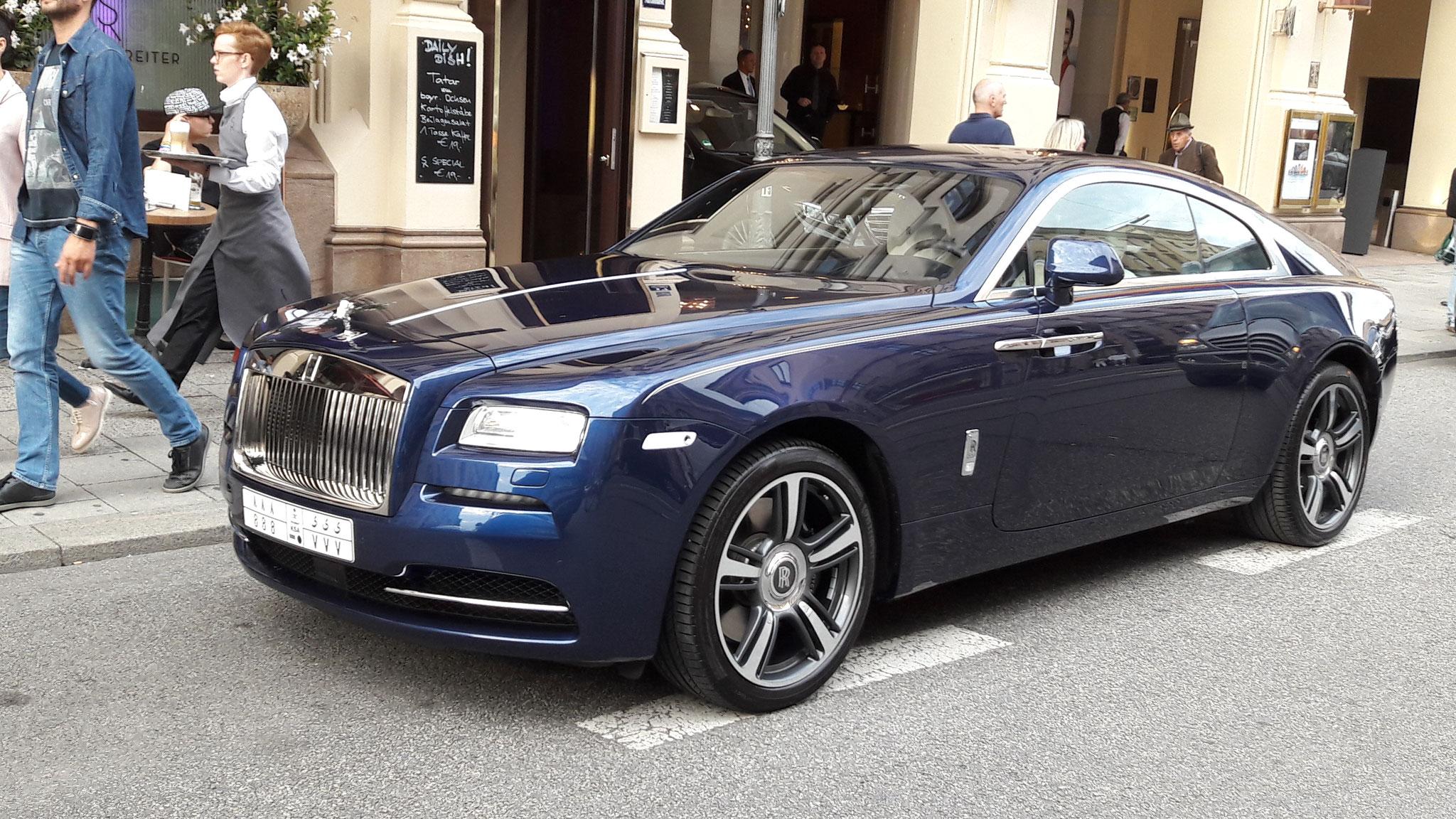 Rolls Royce Wraith - 888-VVV (KSA)