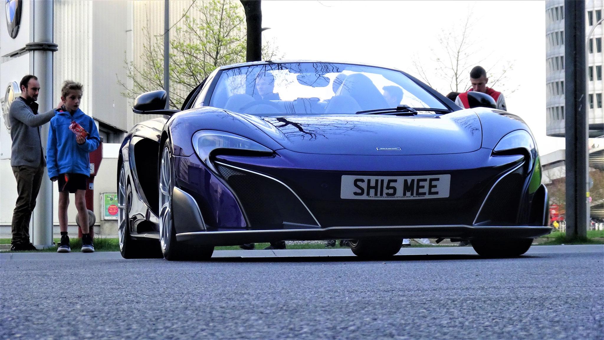 McLaren 675 LT  Spider - SH15-MEE (GB)