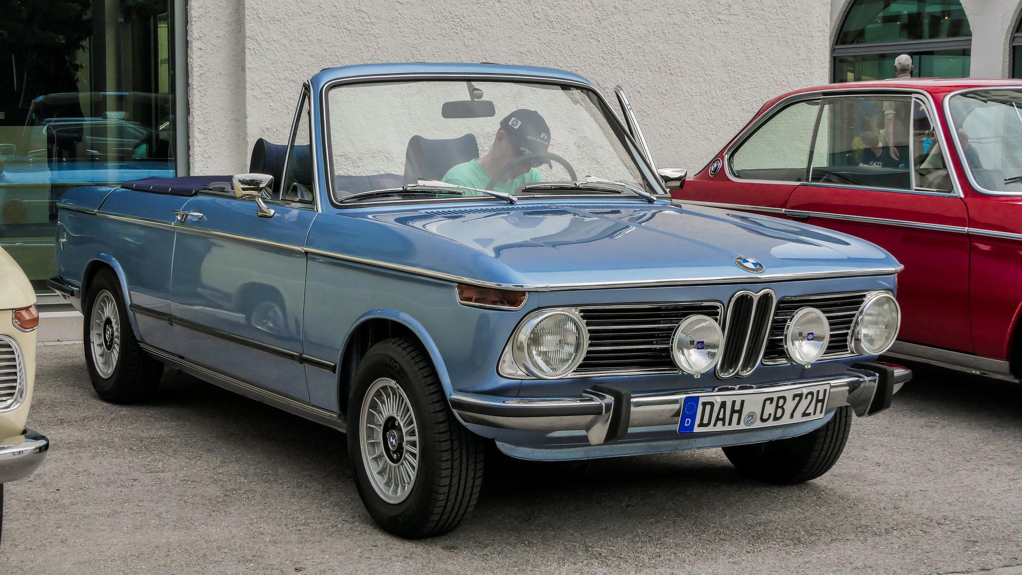 BMW 1600 Cabriolet - DAH-CB-72H