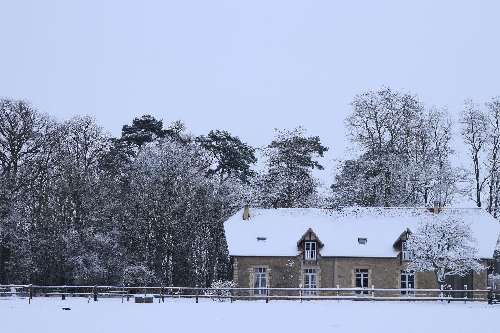 Gîte de la Gaularderie  en hiver du côté des herbages