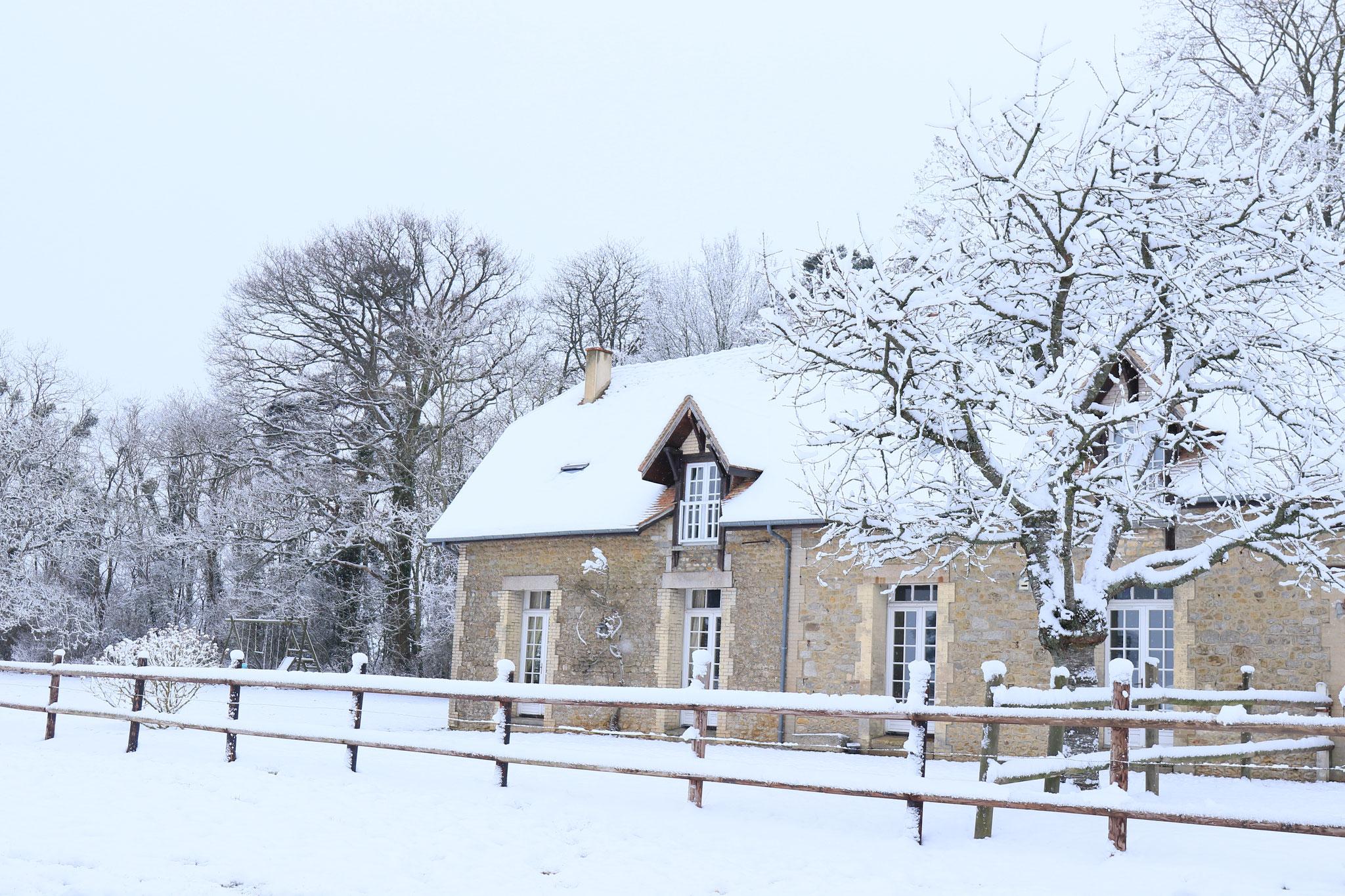 Gîte sous la neige