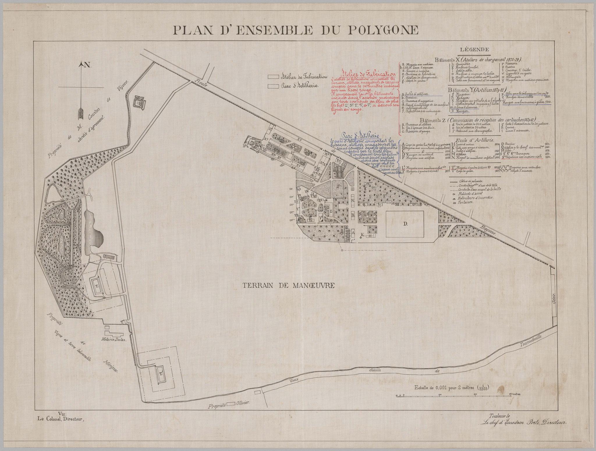 1911 : plan de séparation entre ATE et Arsenal