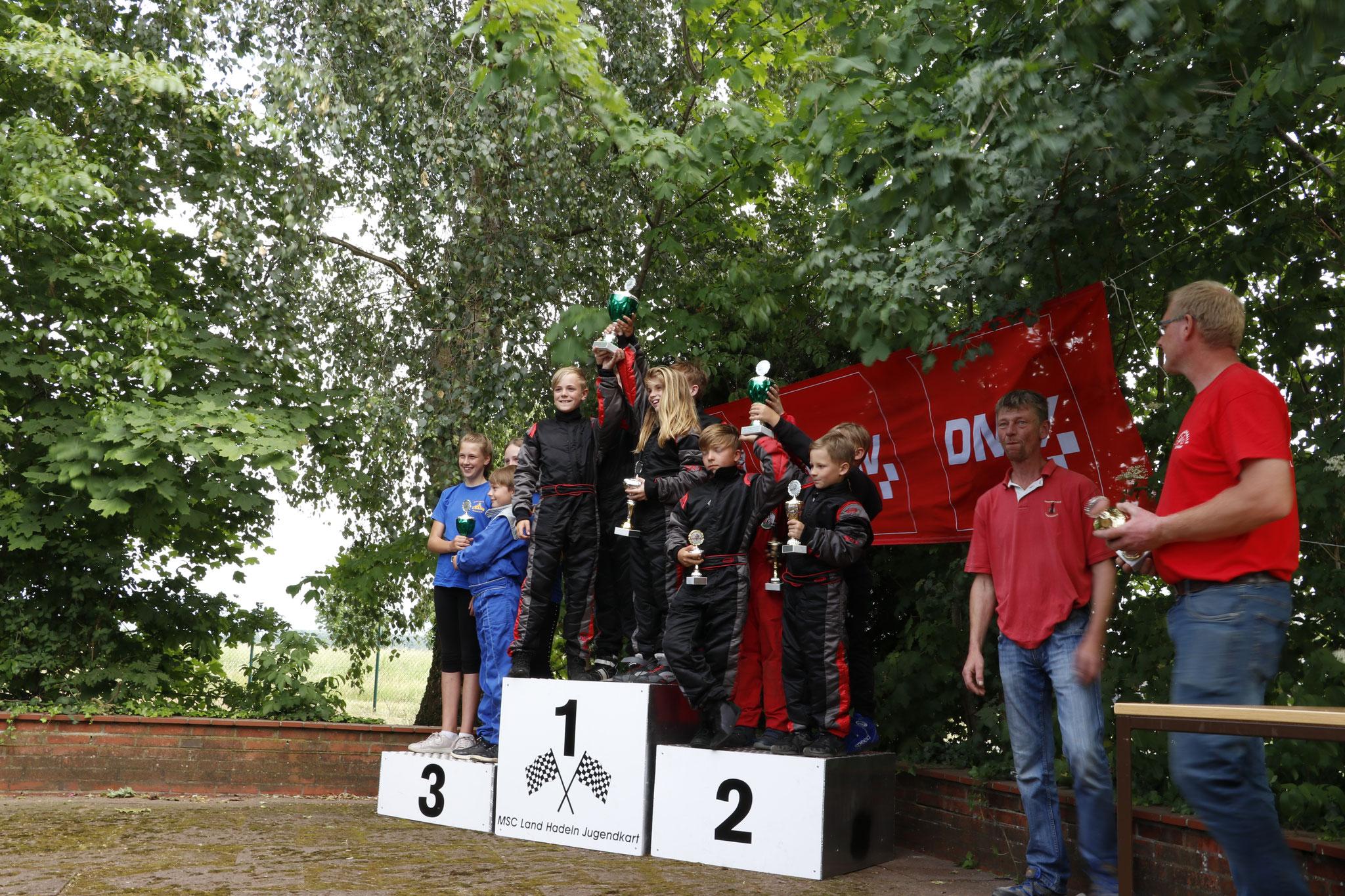 Die Youngstars MSC Land Hadeln 1 landeten auf dem ersten Platz, die Youngstars MSC Land Hadeln 2 auf dem Zweiten