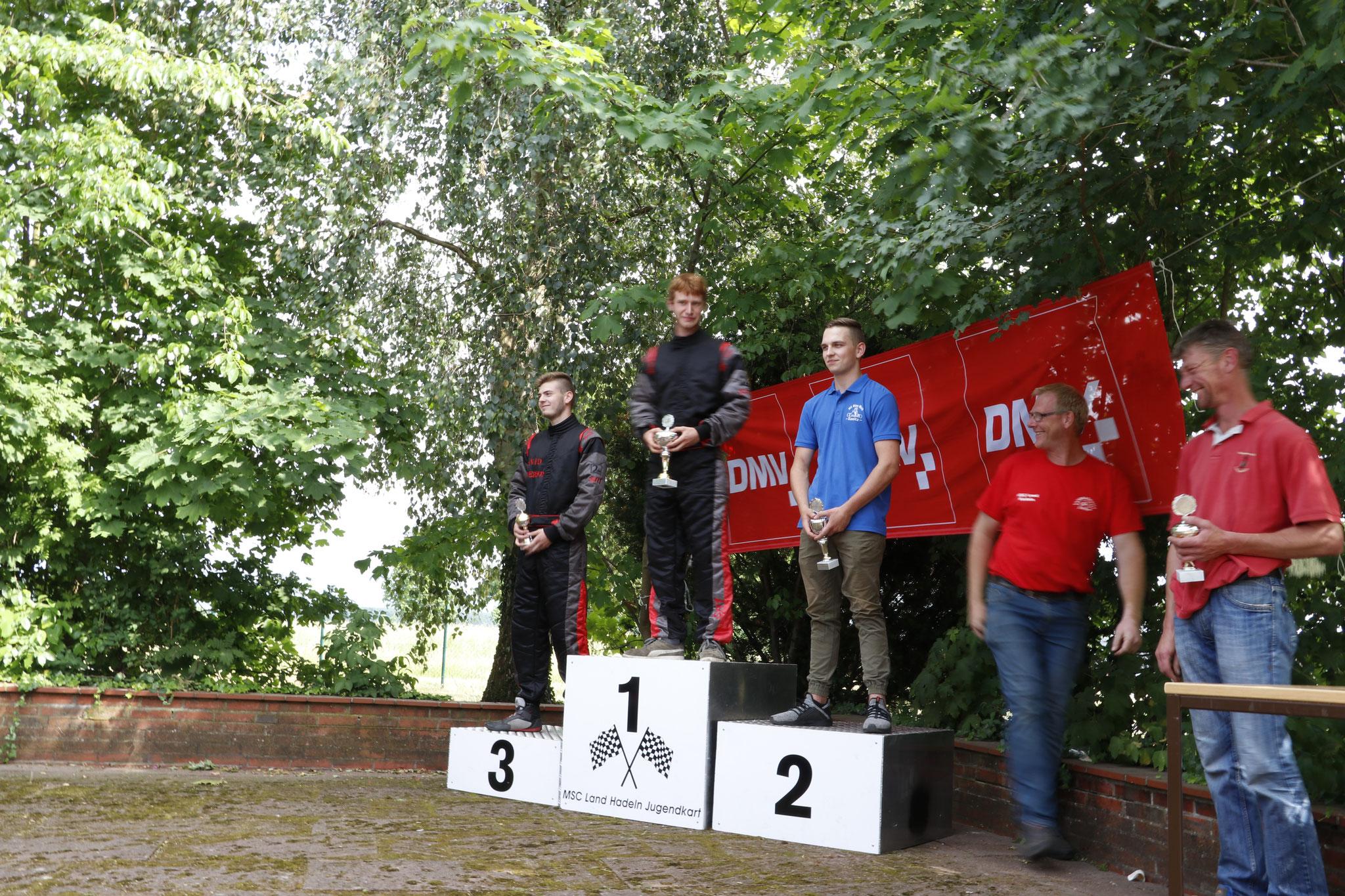 In Klasse 5 gewann Tjark Schlüer das Rennen, David Anderson belegte den dritten Platz
