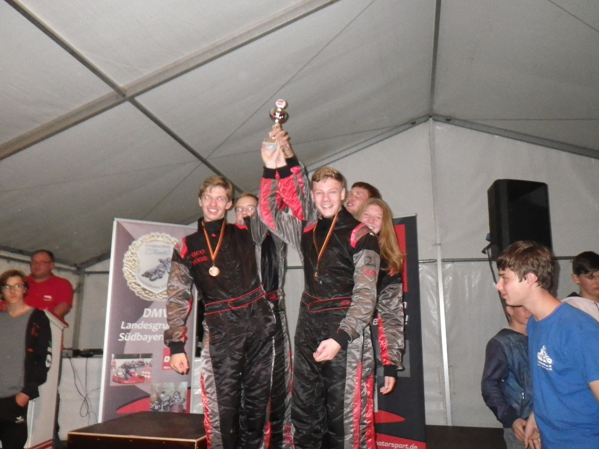 Die Mannschaft MSC Land Hadeln 1 auf Platz 3 bei der Tageswertung