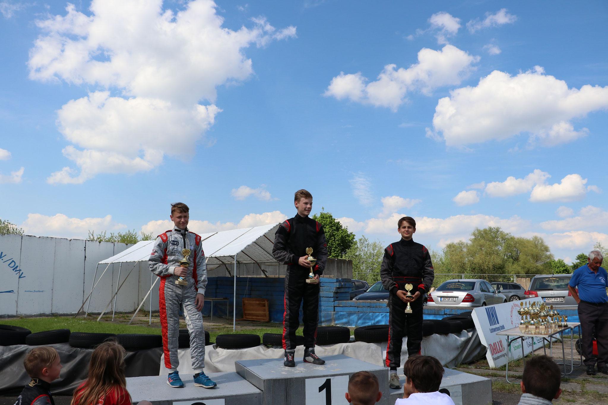 In der Klasse 4 holte sich Michel Boje den Tagessieg und Joel Selenski kam auf den dritten Platz