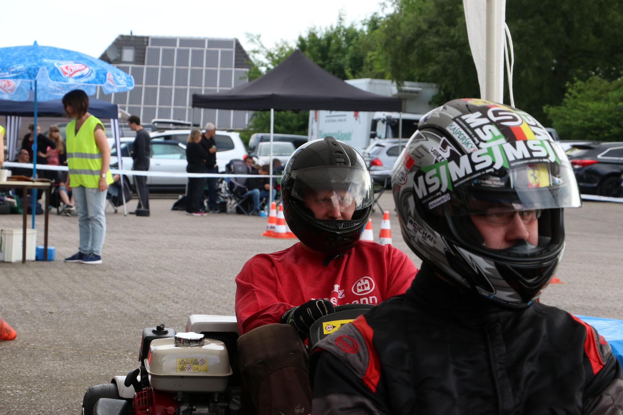 Die Warmfahrer v.li. Carsten Schlüer und Alexander Doll