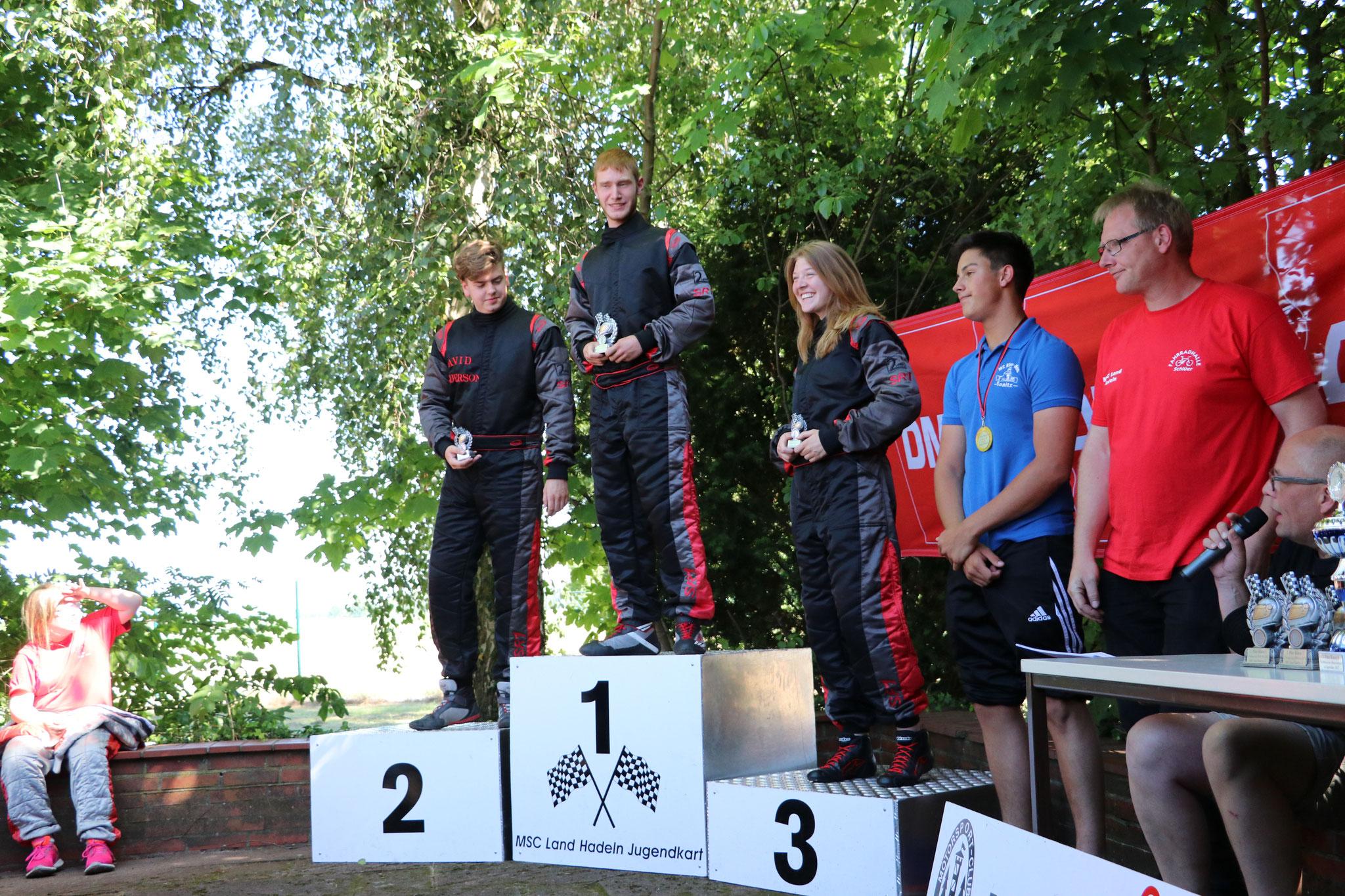 Einen weiteren dreifachen Sieg gab es in der Klasse 5. Gewonnen hat Tjark Schlüer, Zweiter wurde David Anderson und auf den dritten Platz kam Janica Schlüer
