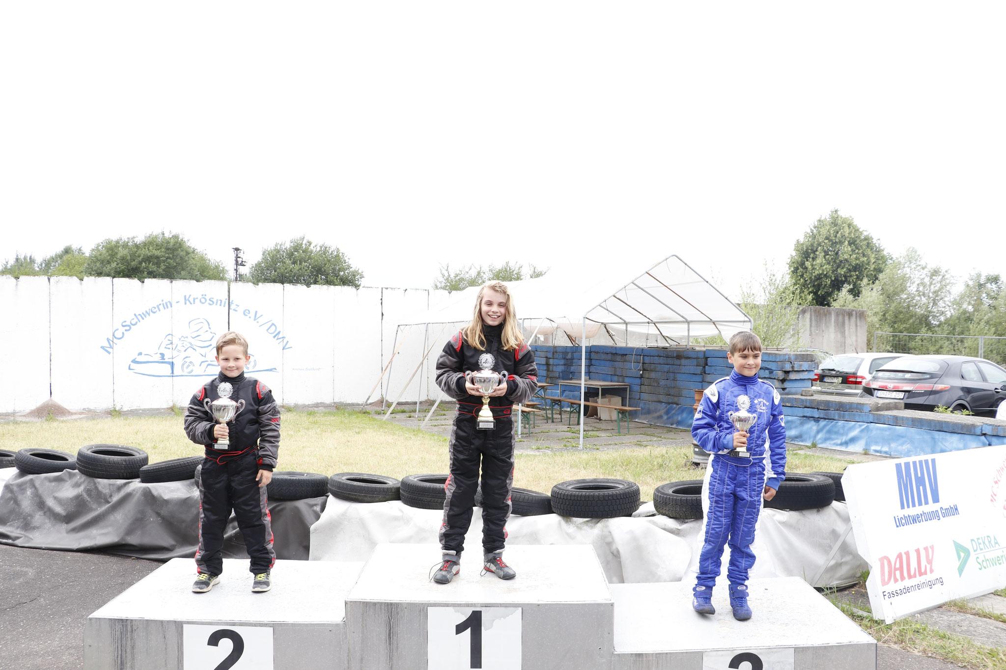 In der Klasse sehen wir Nico Hesse mit einem guten zweiten Platz und die Tagessiegerin Lena Altmann