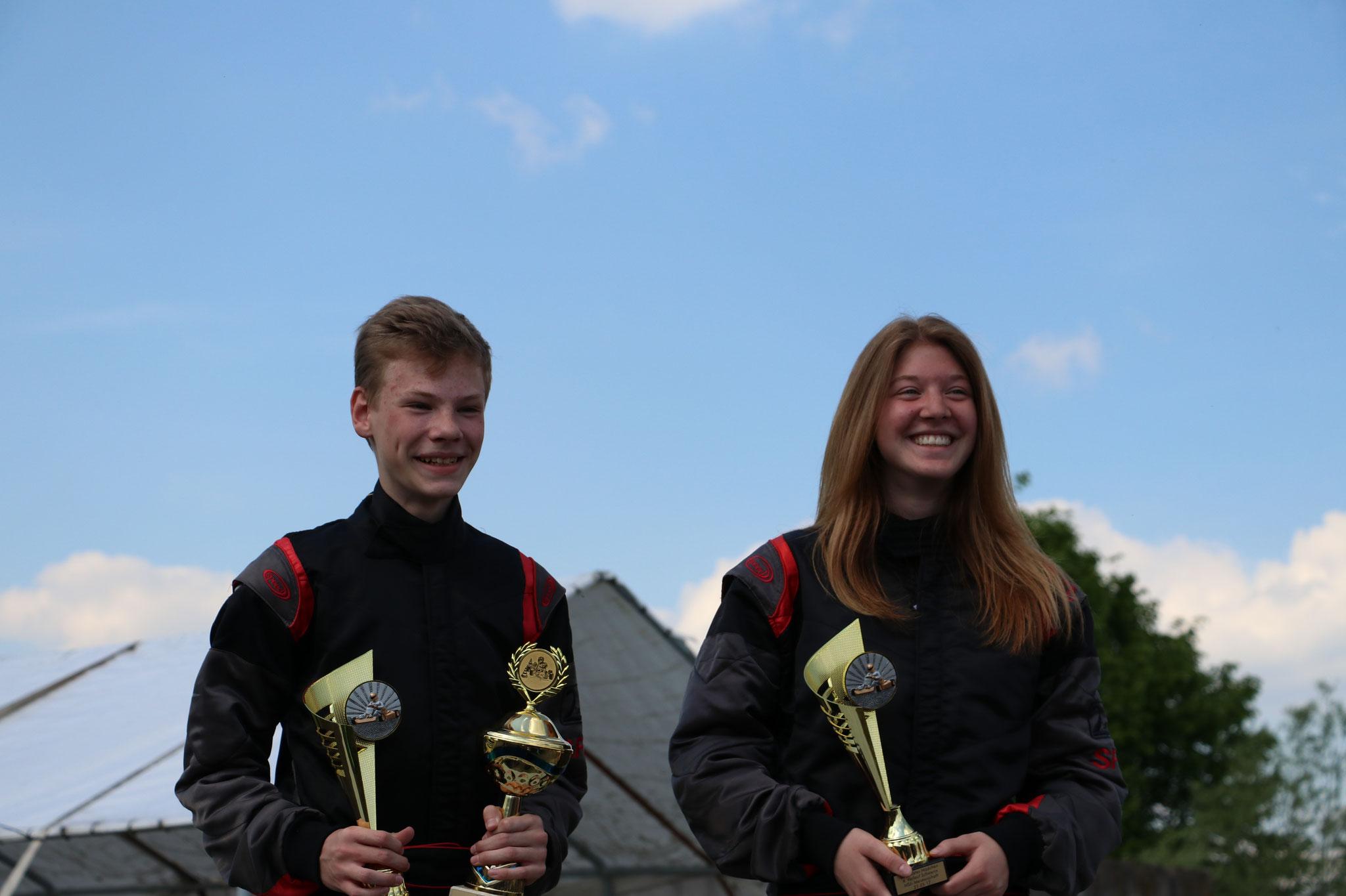 Die schnellsten des Tages sind heute Michel Boje und Janica Schlüer