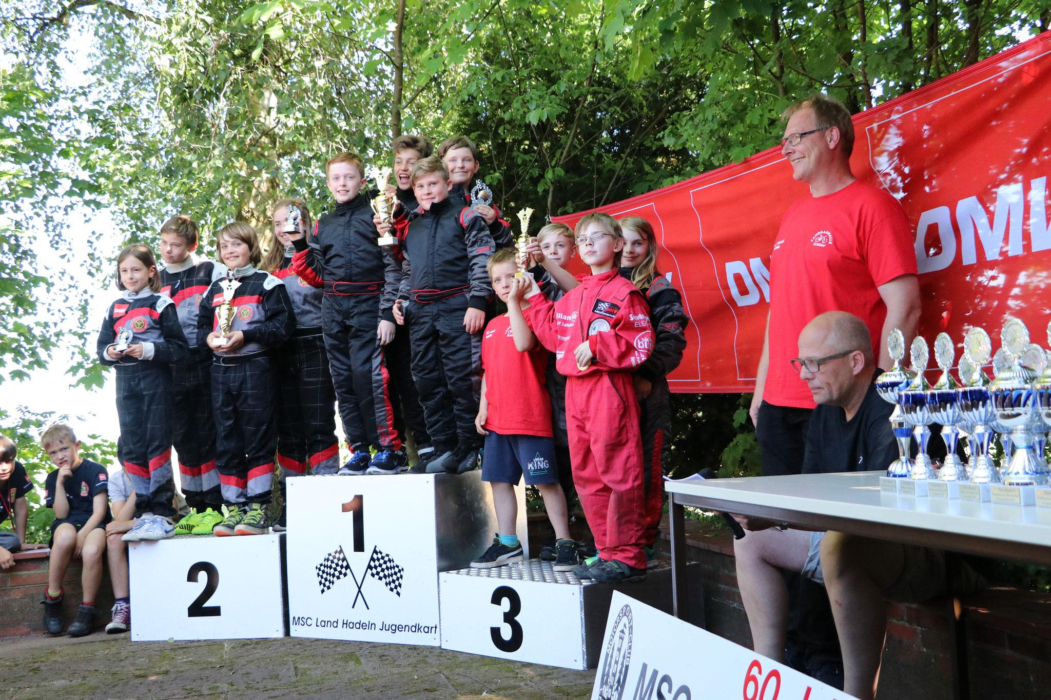 Die Youngstars MSC Land Hadeln 1 kamen auf den ersten Platz und MSC Land Hadeln 2 auf den dritten Platz