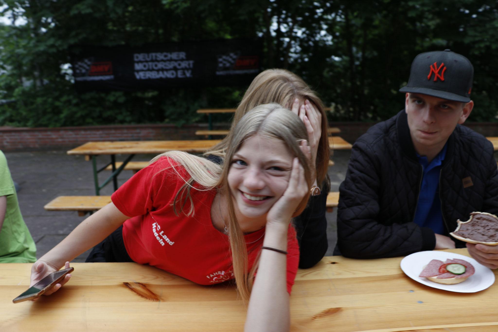 v.li. Alicia Föge und Mathias Staritz (MC Blau Weiß Sanitz)