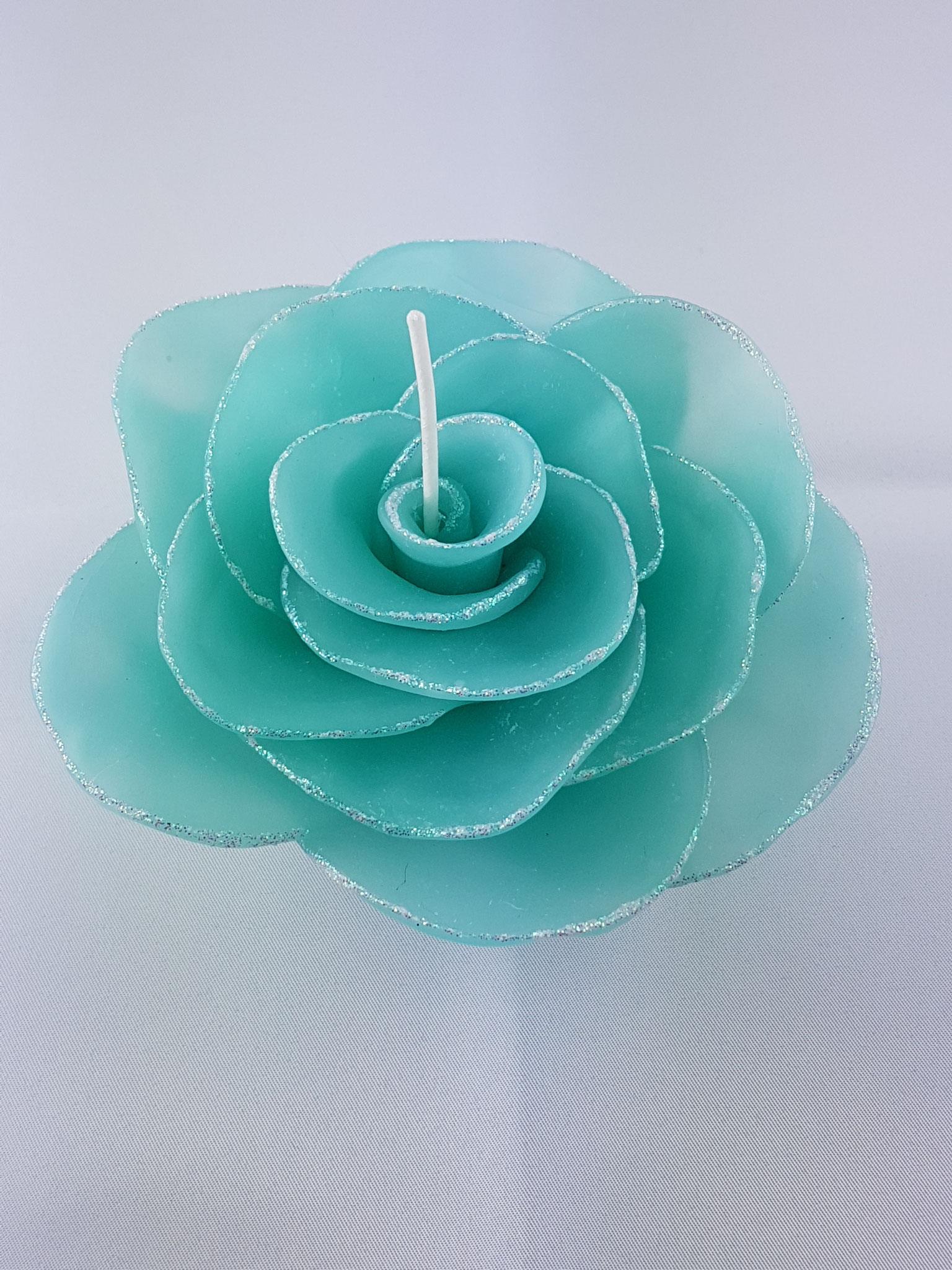 Rosenblüte mit Glitzer