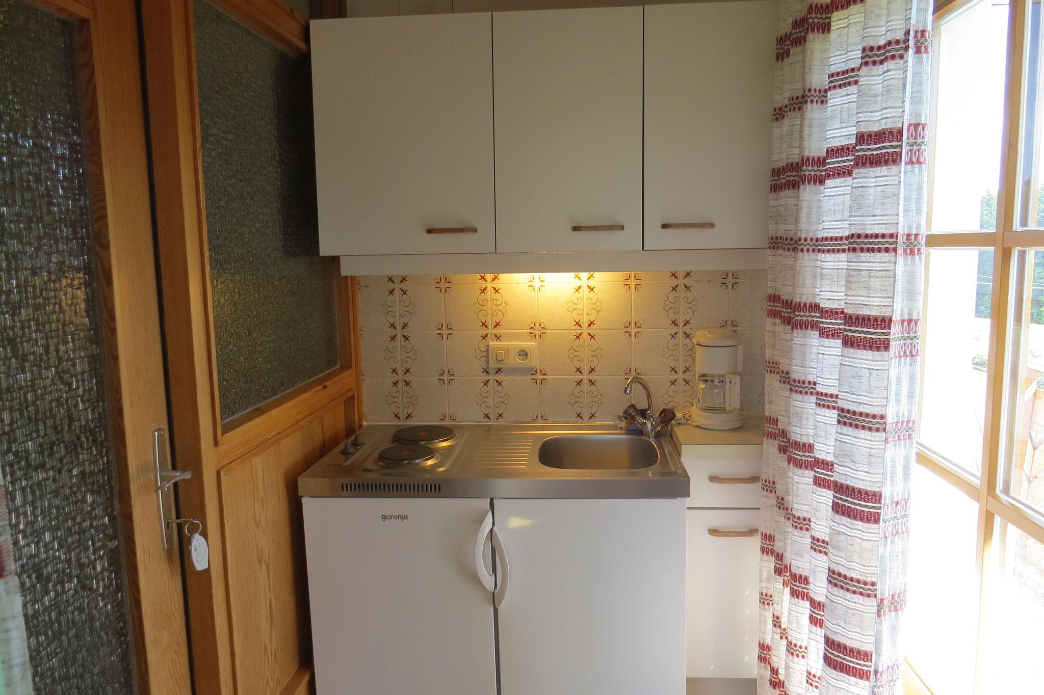 Biohof Haus Wieser, Studio für 2 - 4 Personen, Kochnische