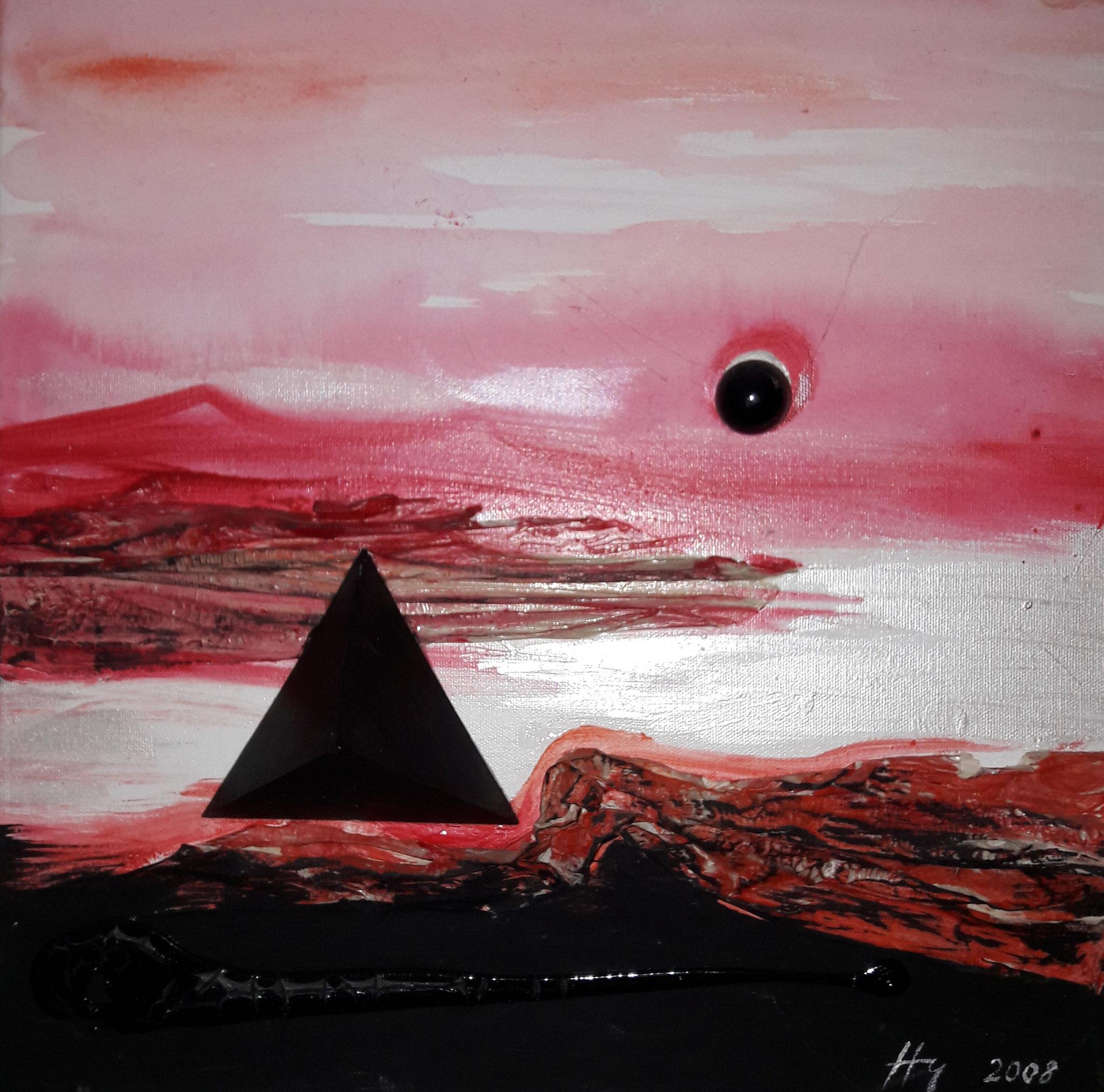 Imagination Japan, Acryl-Relief, 40 x 40cm, 2008