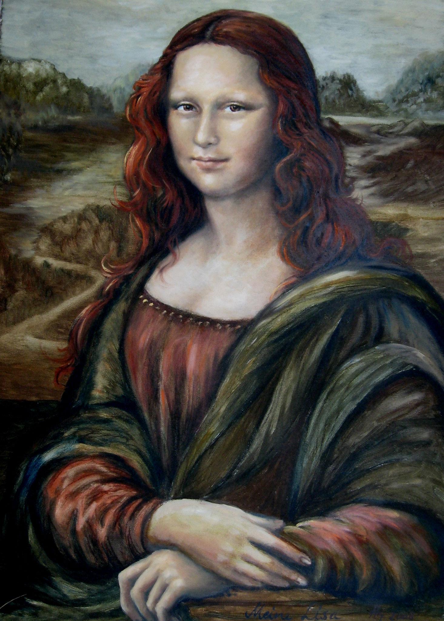 Meine Lisa, Öl auf Leinwand, 60 x 70cm, 2008