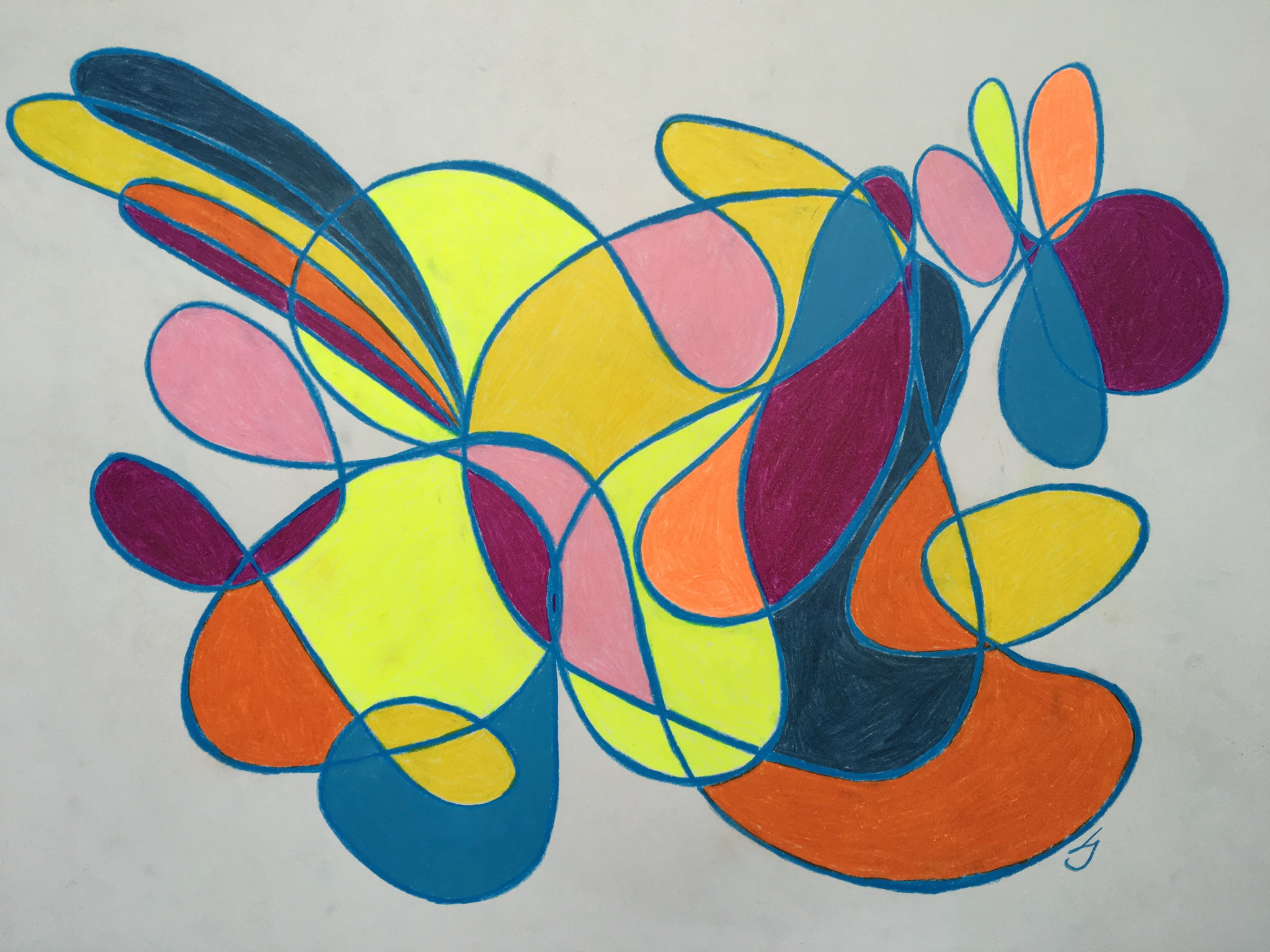 Pastellstift/Kreide, 42 x 59cm, 2021
