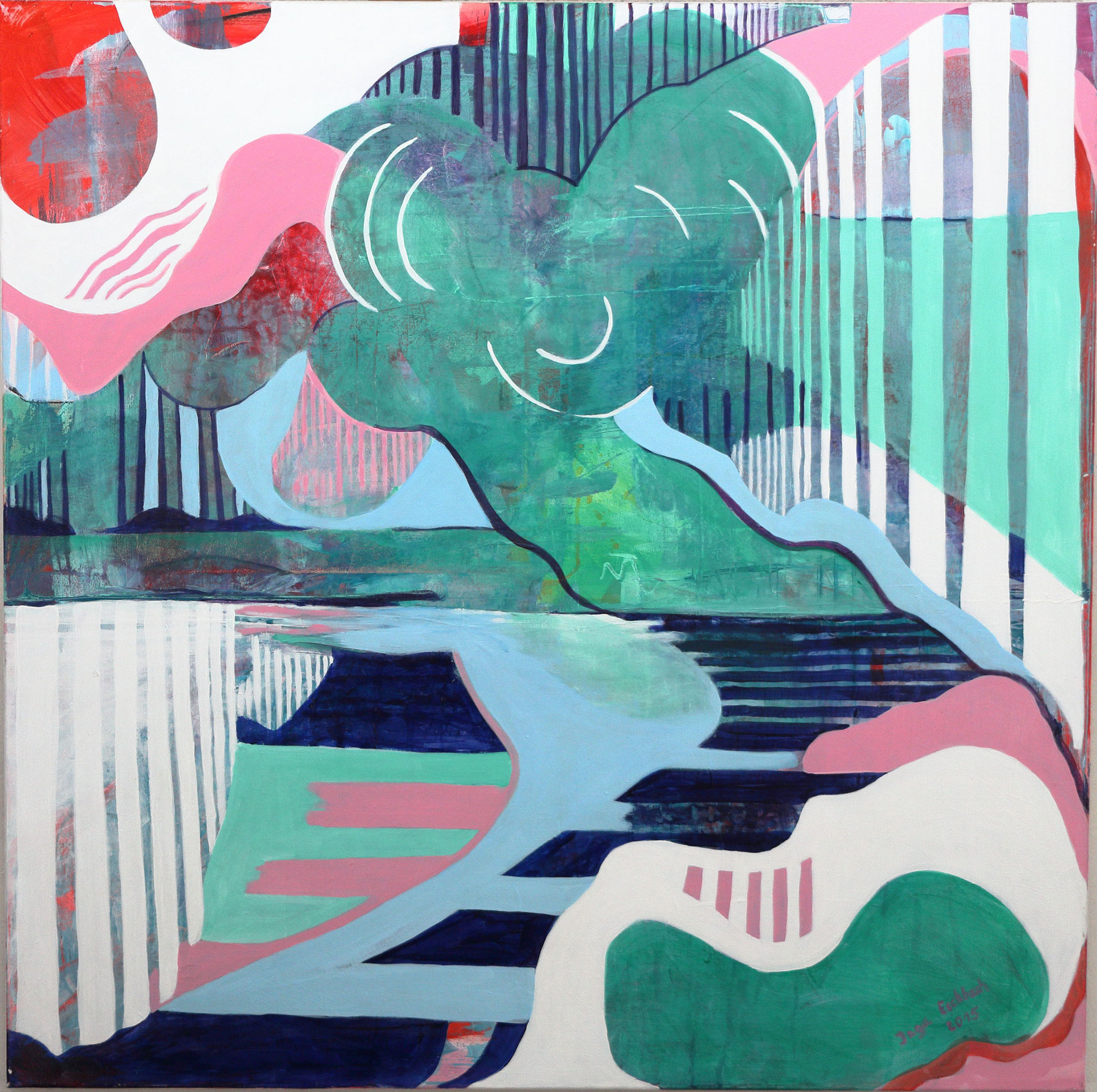 o.T., Acryl a. Leinwand, 100x100cm
