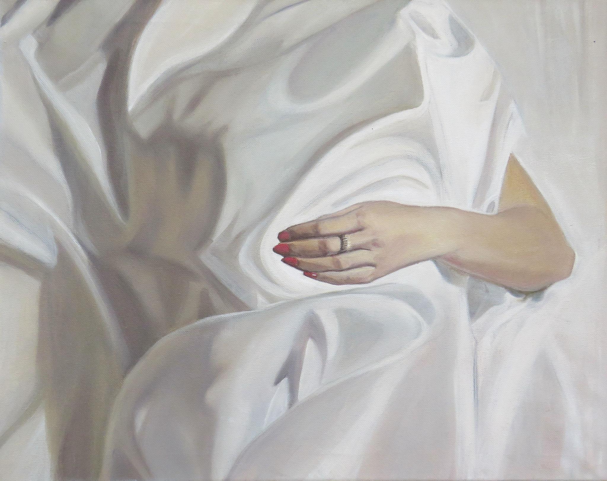 Sleeping Hand, Oilpainting, 40x50cm, 2015