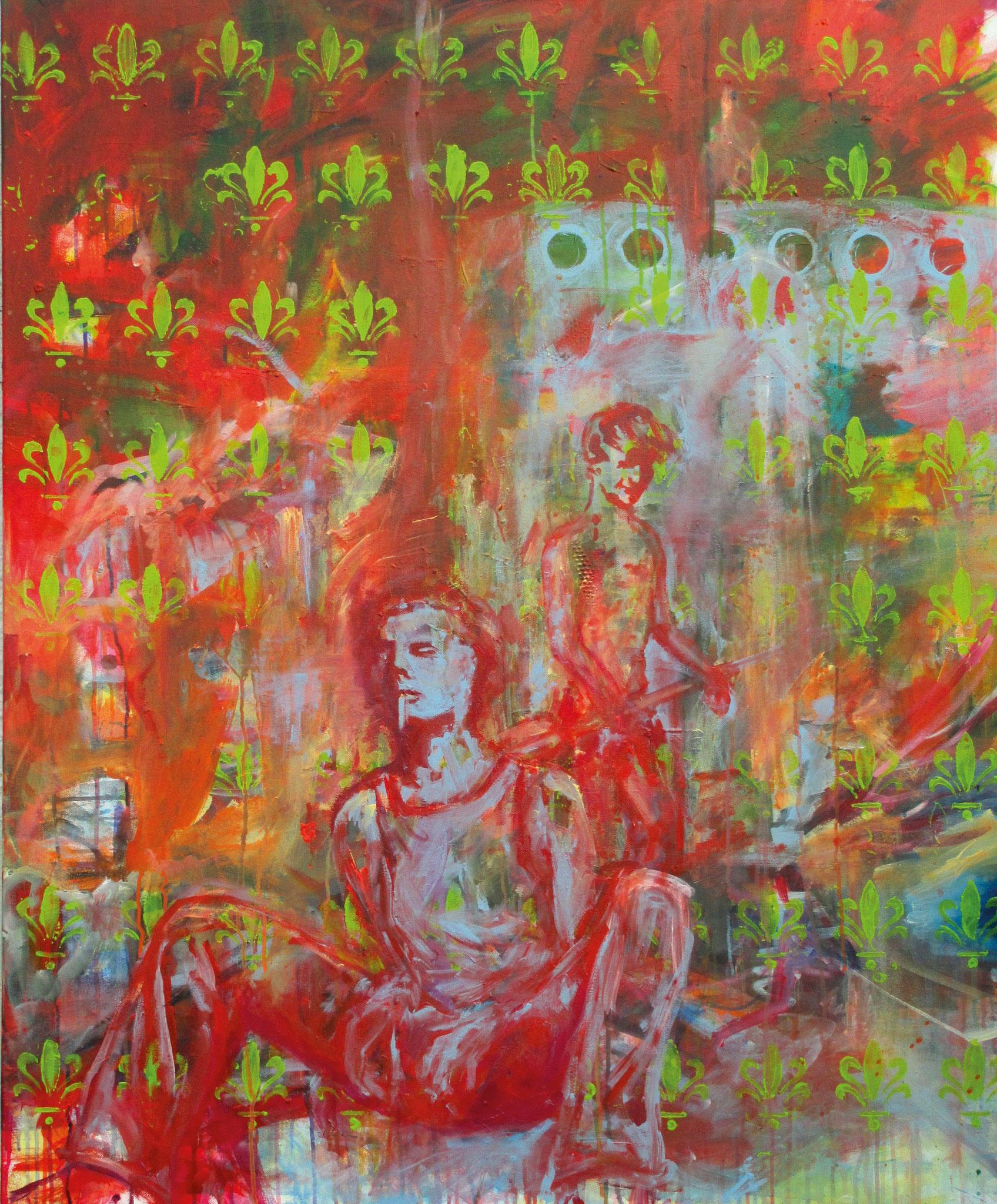 lost and found I, Acryl auf Leinwand, 120 x 100 cm, 2014