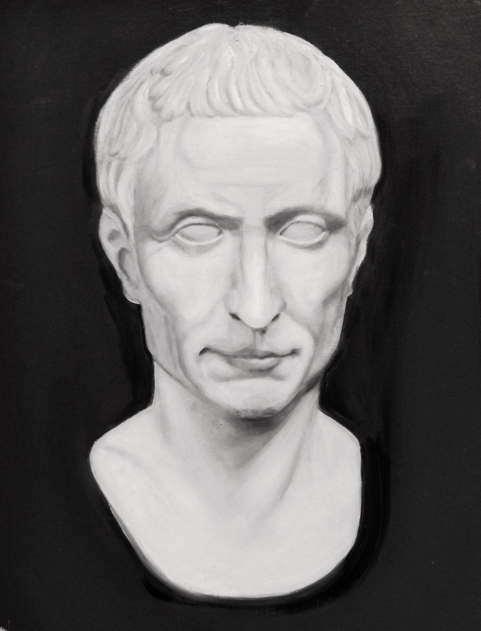 Cesar, Oilpainting, 40x30 cm, 2015